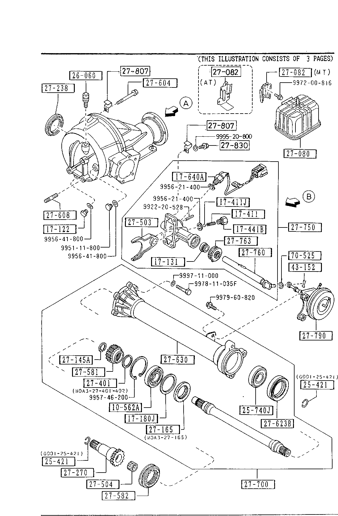 Mazda 9960-66-2063 Axle Shaft Bearing