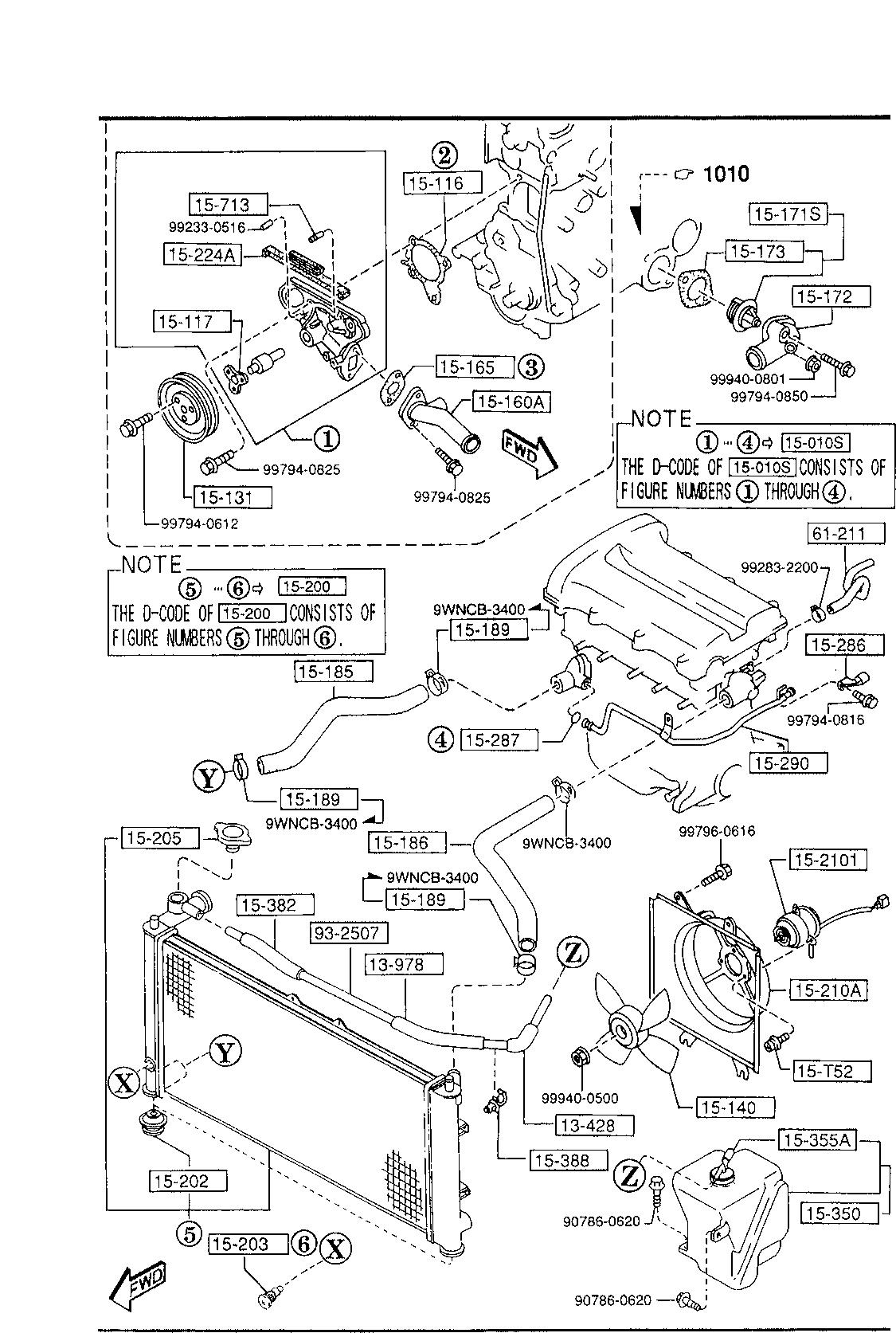 Mazda K801-15-140 Engine Cooling Fan Blade