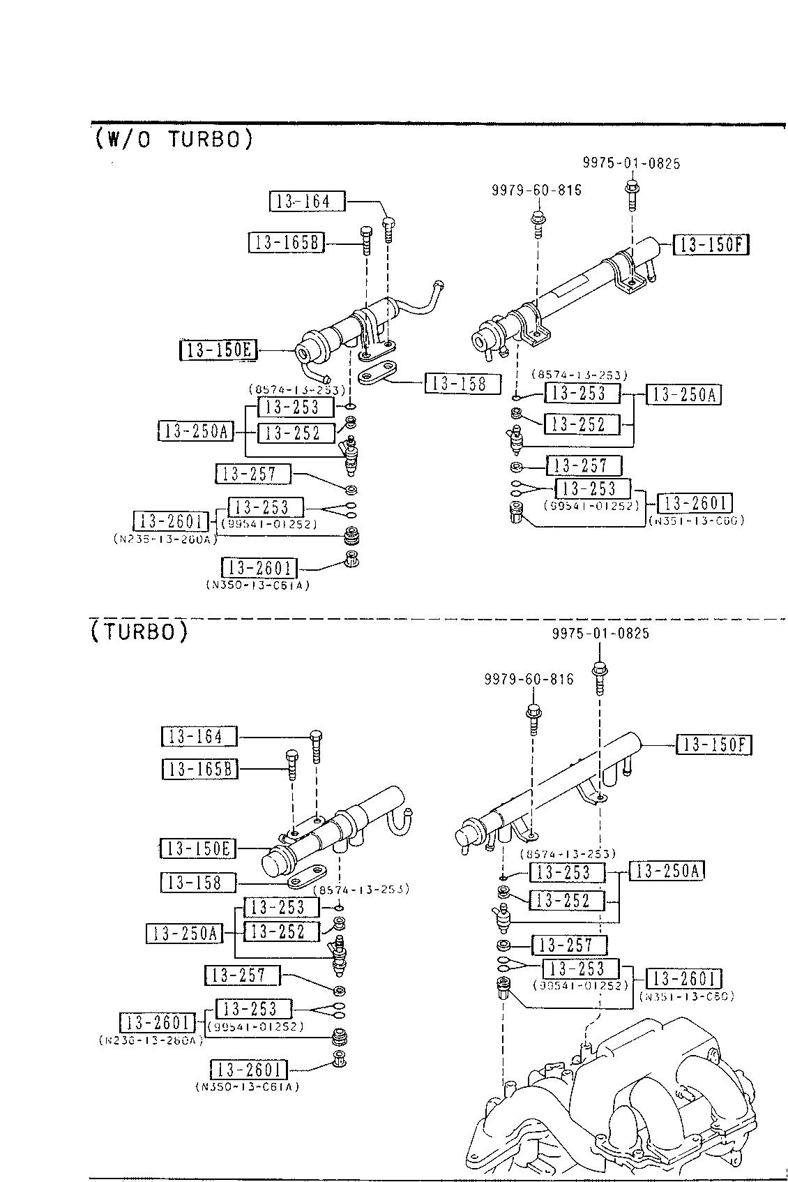 USA, 1989 RX-7, GASOLINE-ENGINE SUPPLEMENT, 1325 - FUEL DISTRIBUTOR