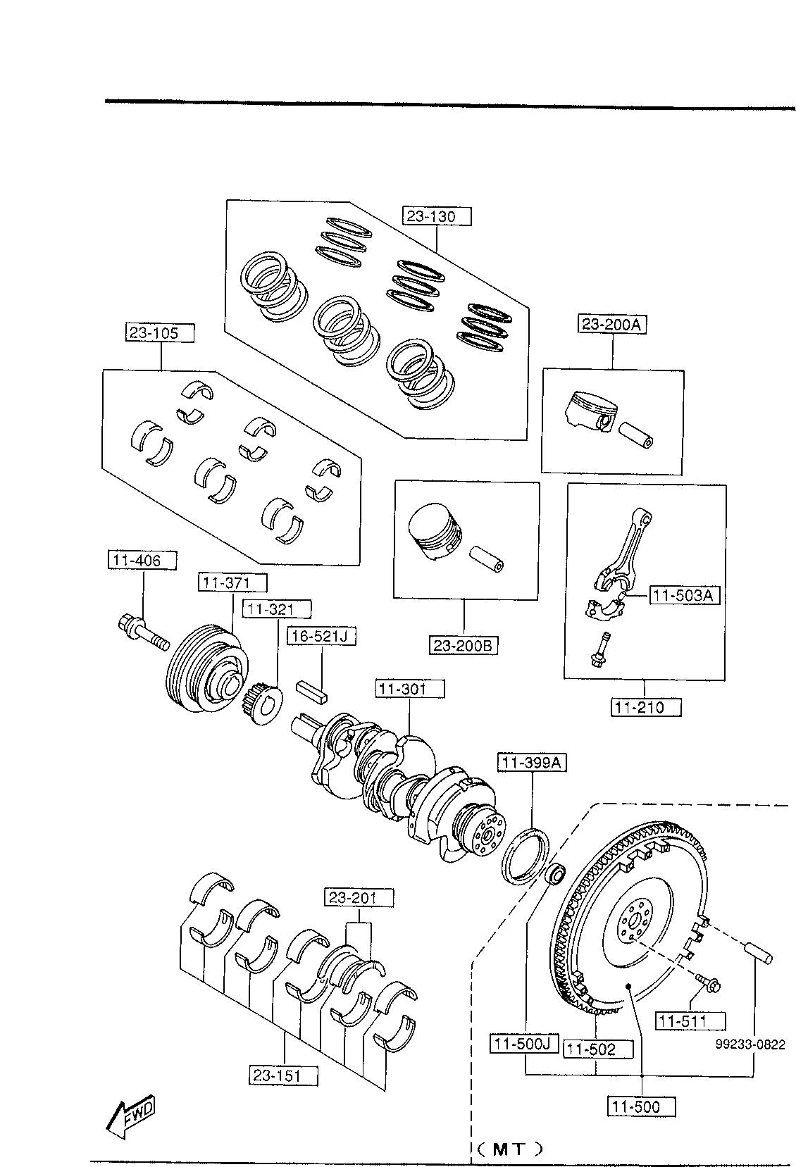 Mazda KJY1-11-SC0A Engine Piston Ring