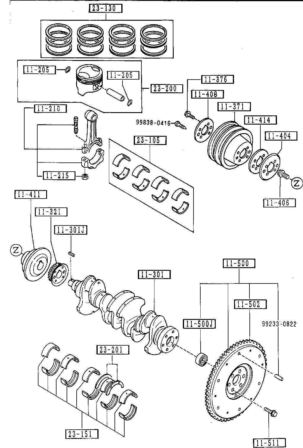Mazda B6S7-11-401A Engine Crankshaft Pulley