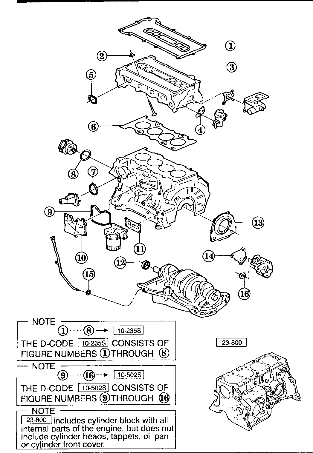 Mazda 1F30-10-235 Engine Cylinder Head Gasket Set