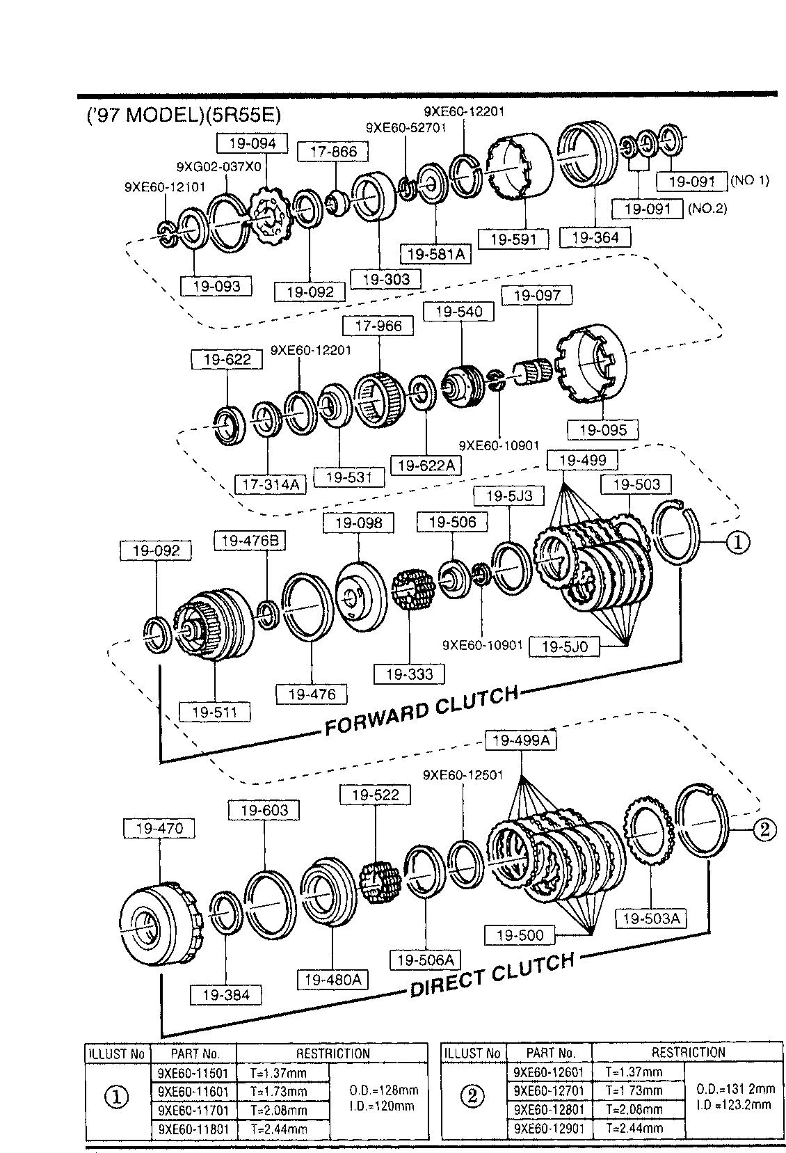 USA, 1994 B4000, GASOLINE-ENGINE 4-CYLINDER TRANSMISSION, 1930A