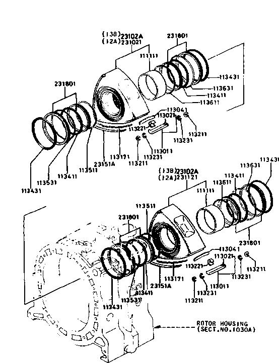 Usa 1984 Rx 7 Engine 1110a