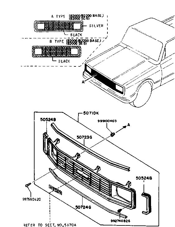 Mazda B2000 Parts