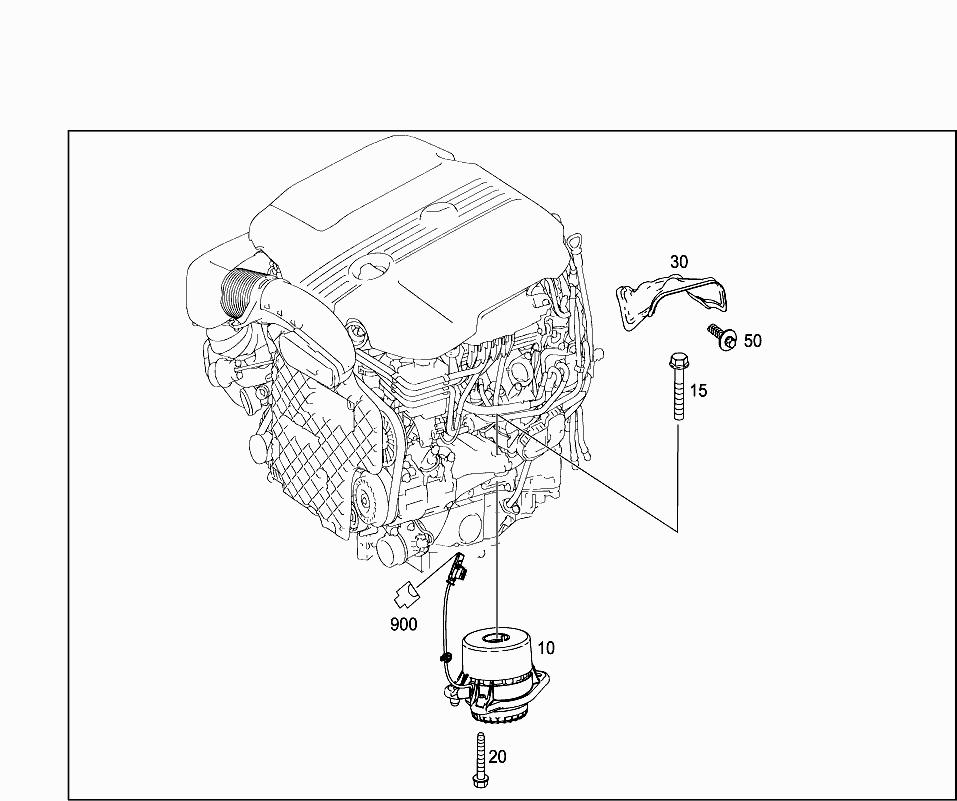Car North America 222 032 24 Engine Suspension 015 Engine
