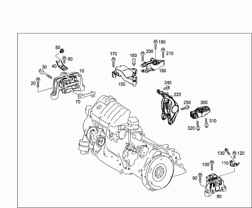 support moteur w176