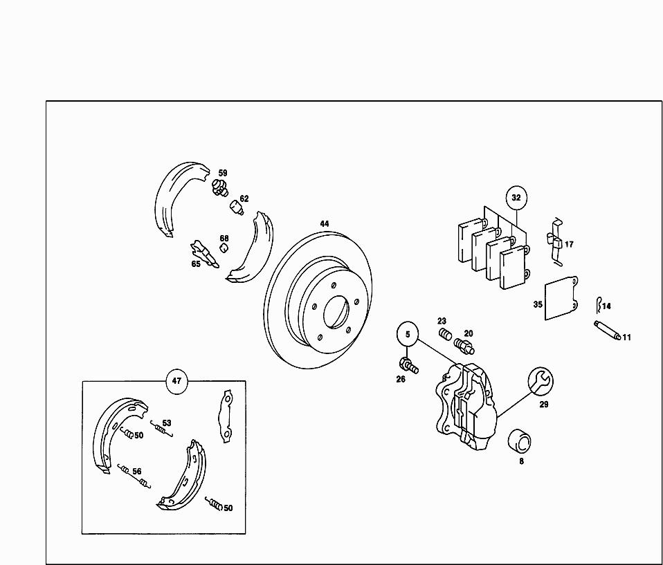 Mercedes-Benz 1084230092 Parking Brake Adjuster Spring