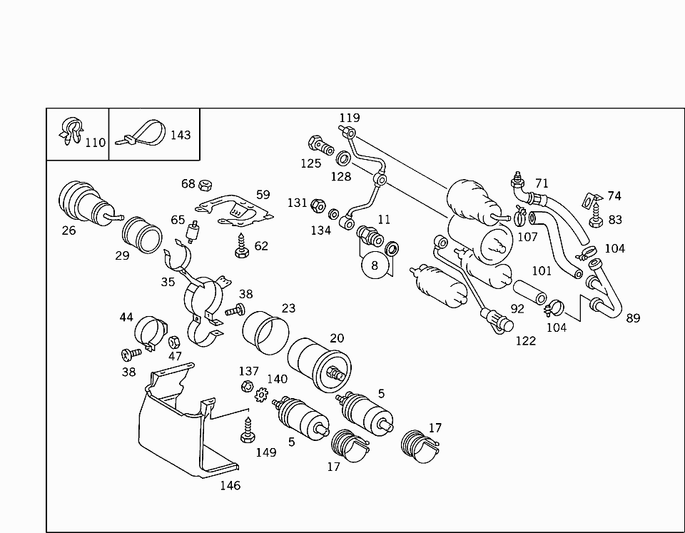 Car Europe 126 034 47 Fuel System 045 Fuel Lines