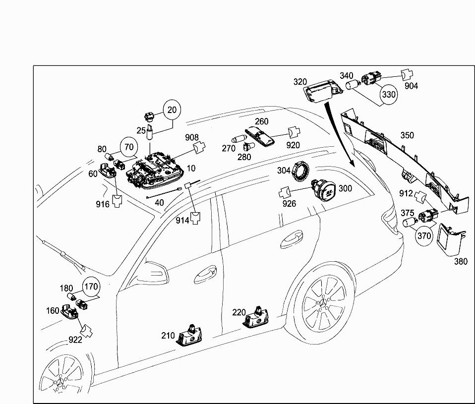 Car Europe 204 241 82 Electrical System 525 Burglary Alarm