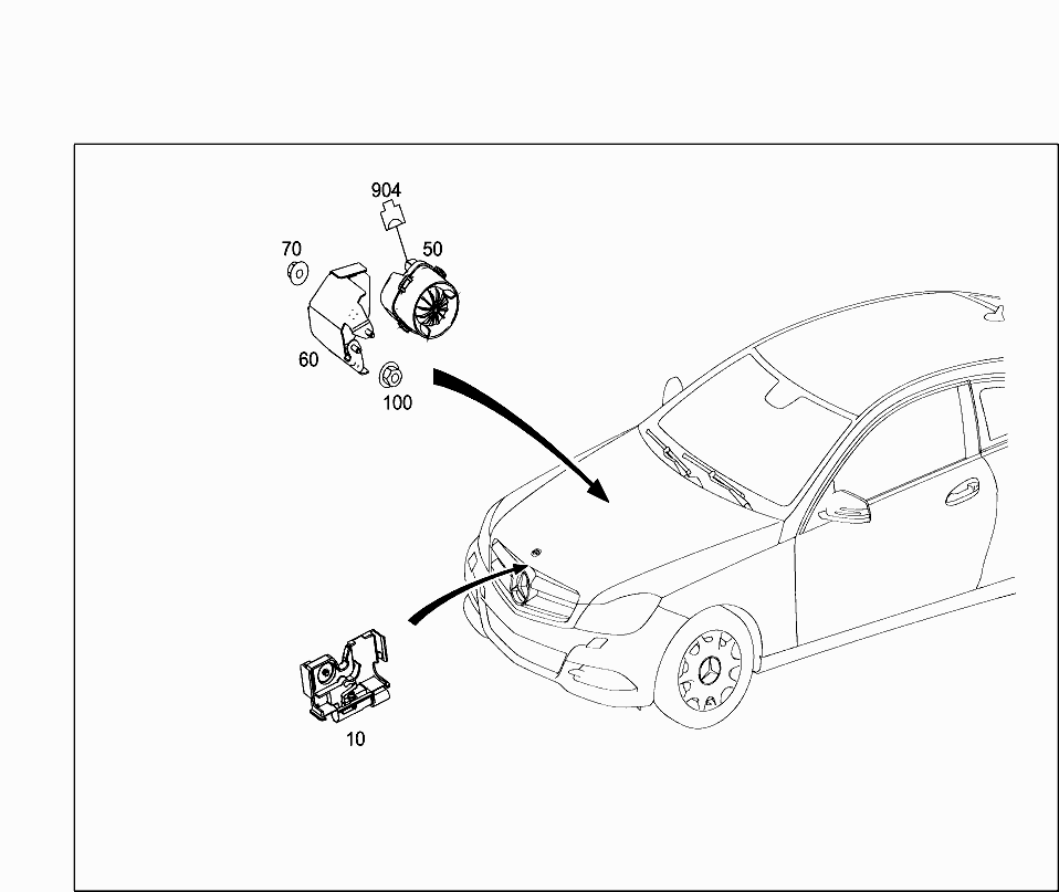 Car Europe 204 377 82 Electrical System 464 Seat Wiring Harness