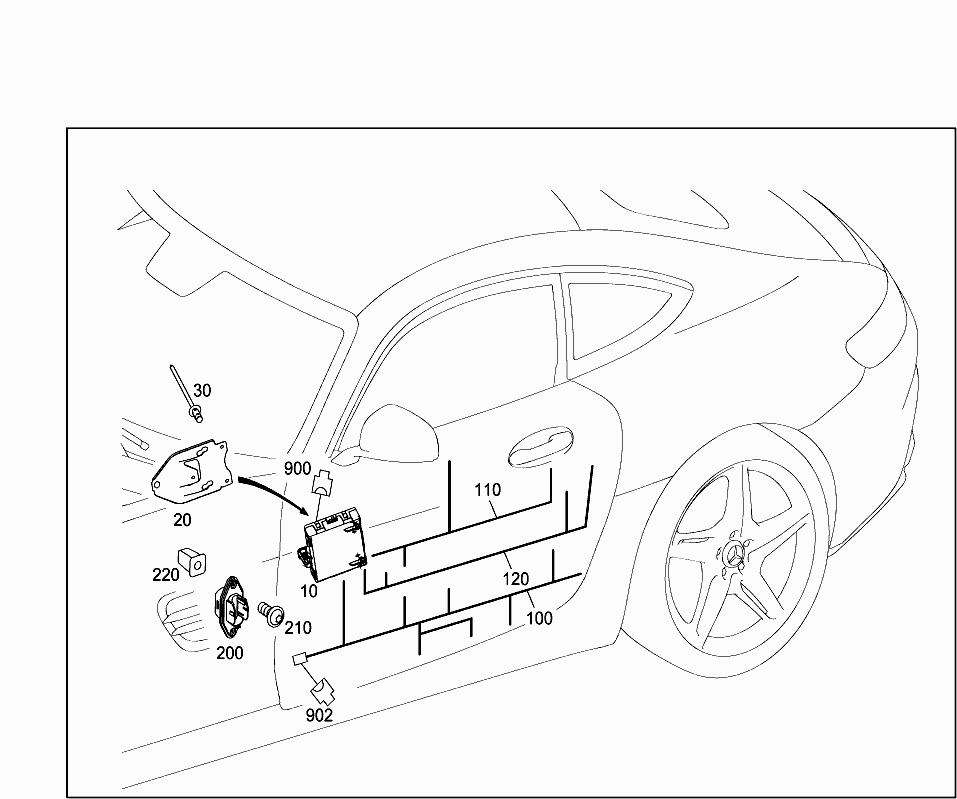 Car North America 190 379 82 Electrical System 607 Door Wiring