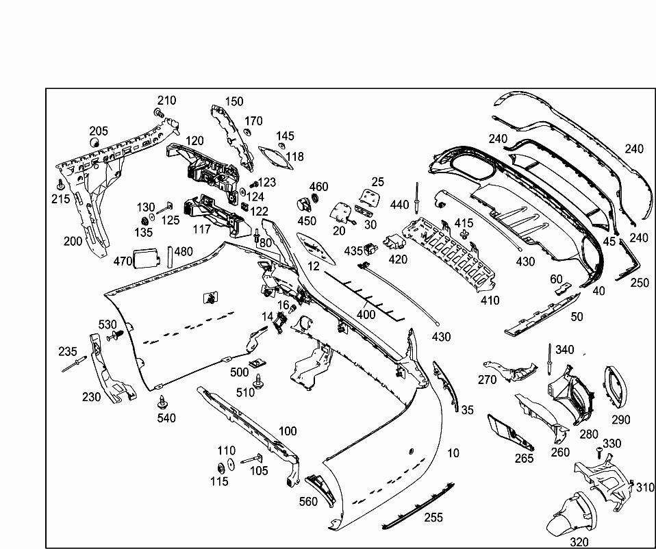 Car Europe 213 016 88 Attachment Parts 075 Rear Bumper