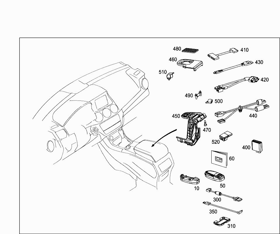 Car Europe 156 942 98 Accessories 020 Outside Attachment Parts