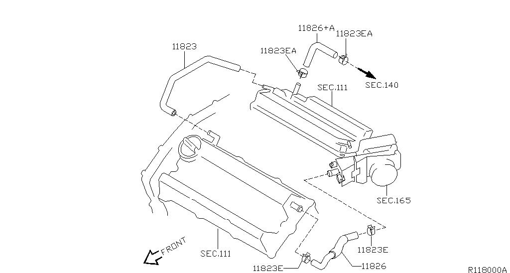 Altima L31 Engine Mechanical Crankcase Ventilation
