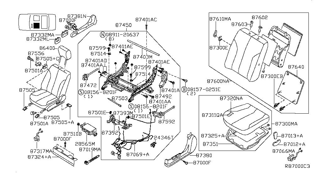 Nissan 87562-ZK32A Slide Motor