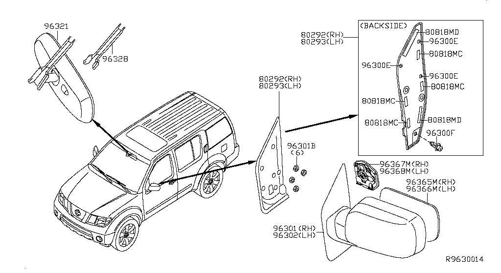 Nissan Pathfinder Inside View