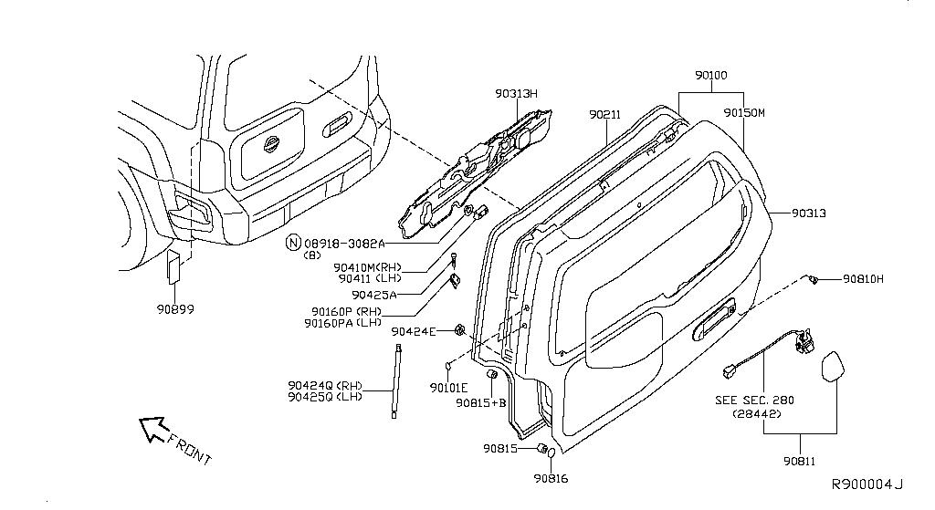 Nissan Xterra Rear Lights