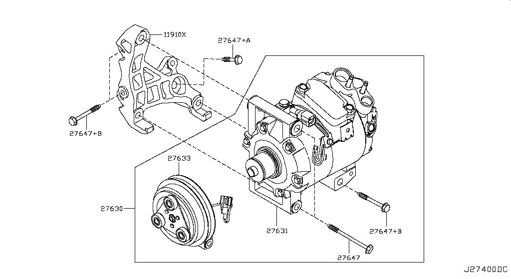 Ex Jpn J50 Body Electrical Compressor