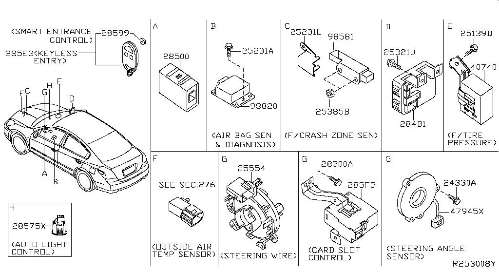 Steering Control Module OE Nissan Part# 28501-9N00A