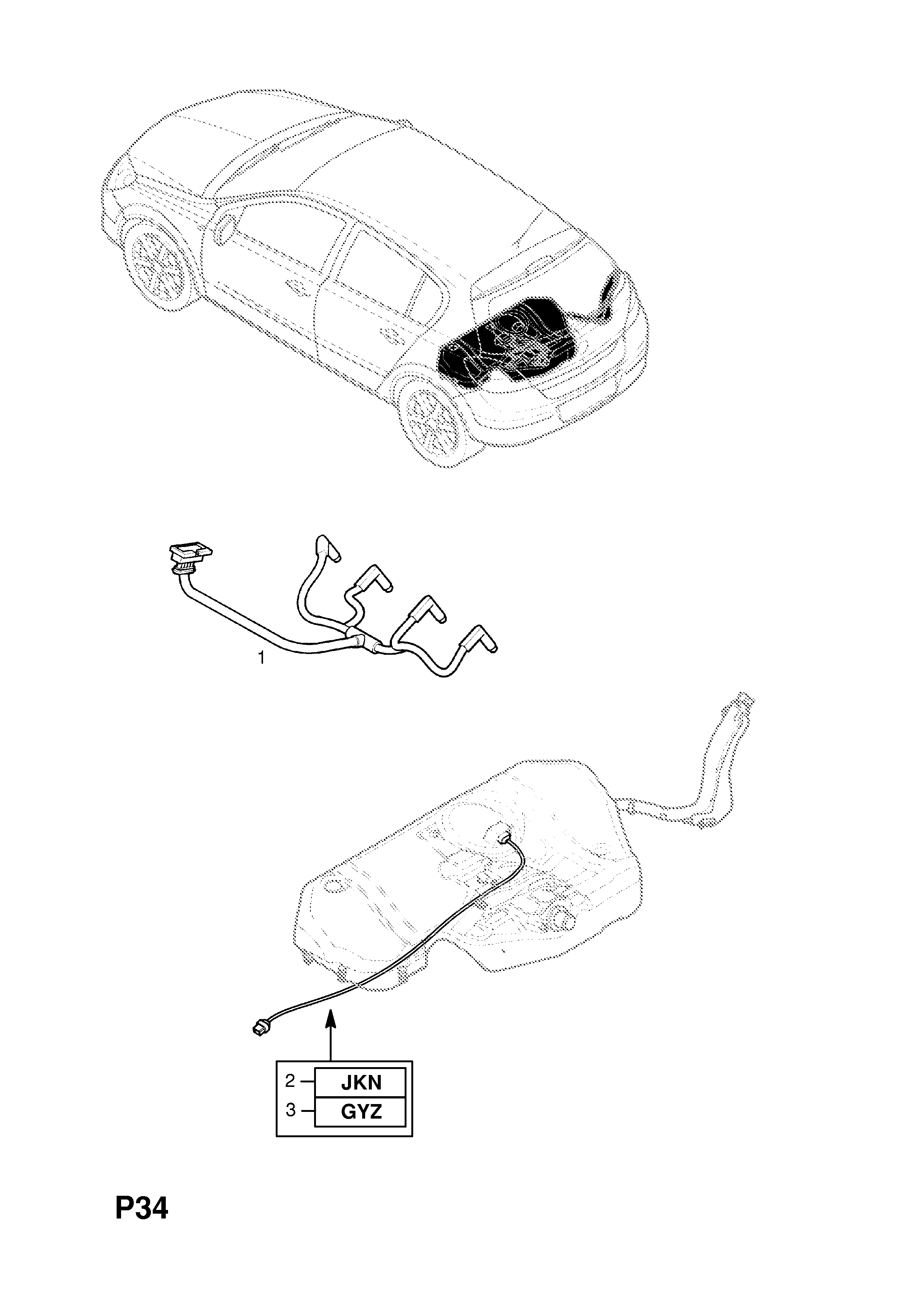 Opel Astra H 2004 P Electrical 8 Wiring Harness 211z19dtl Rear Light Diagram List Of Parts