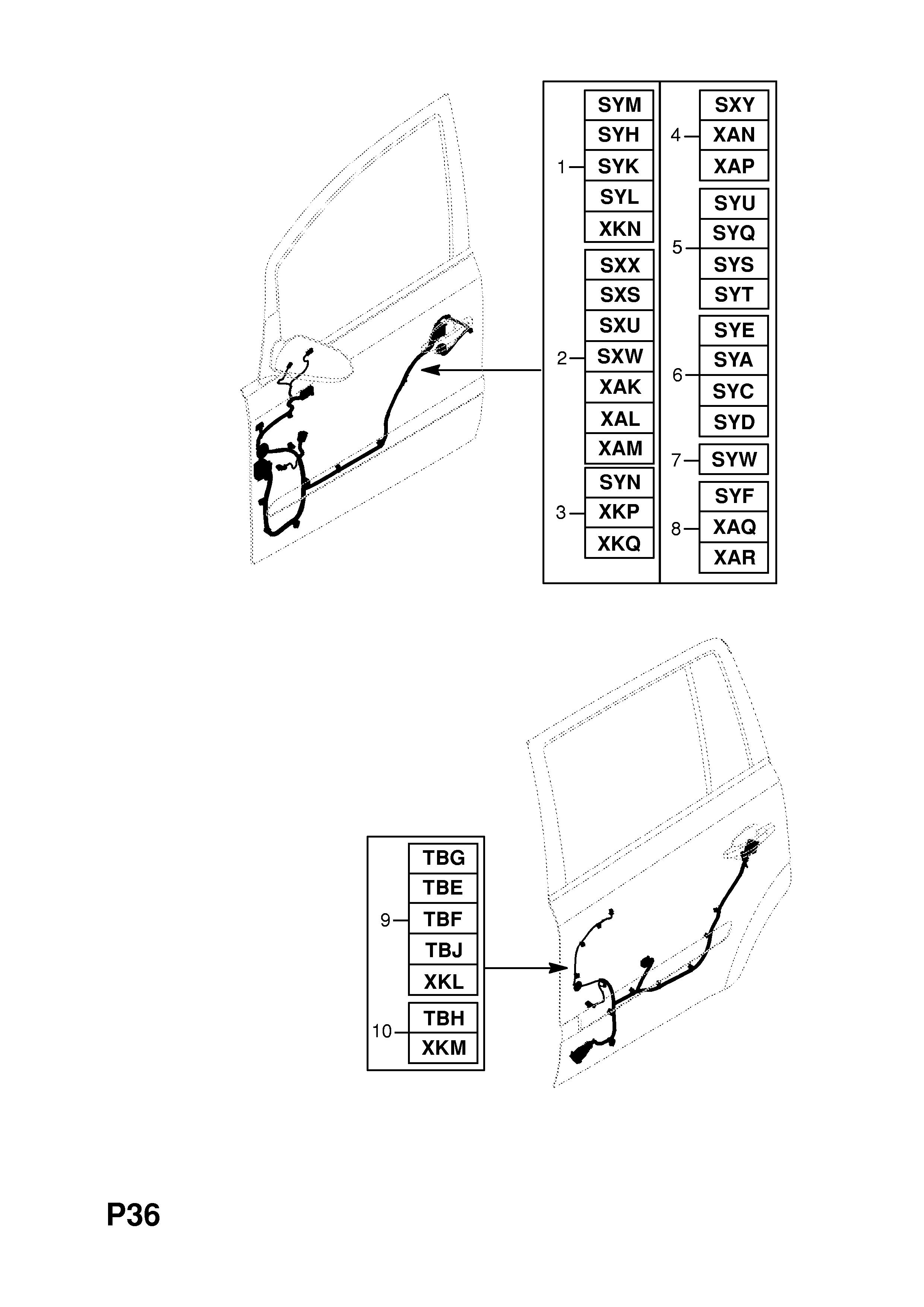 list of parts  model � vauxhall zafira-b