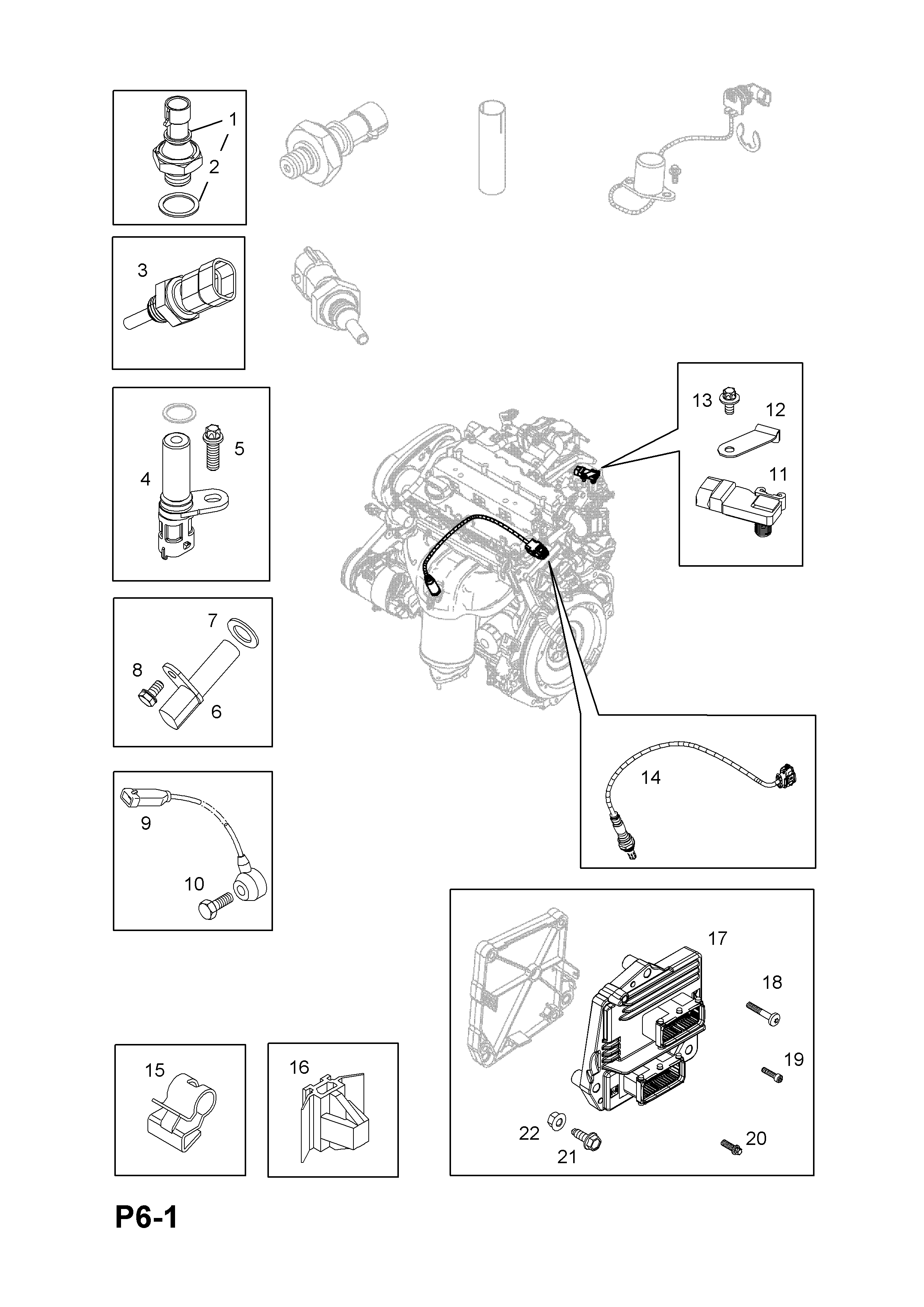 Opel Zafira B 2005 P Electrical 1 Engine And Cooling 103 Coolant List Of Parts