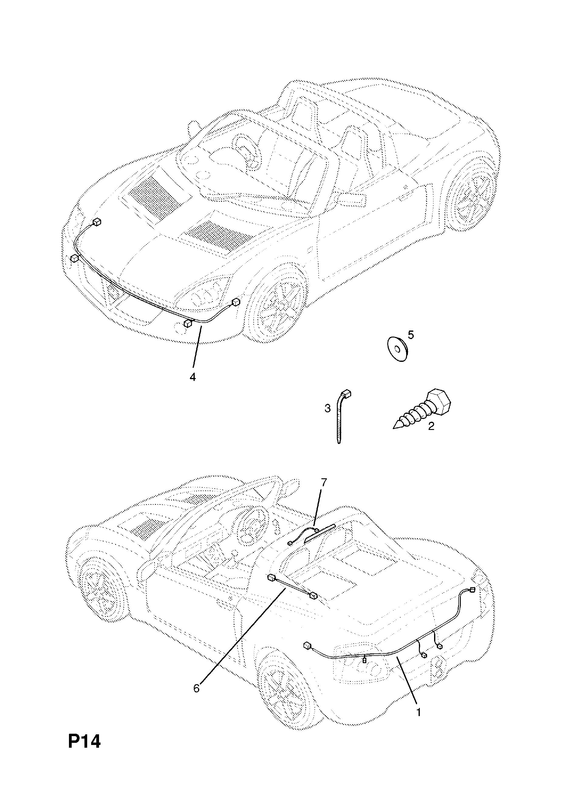 [WLLP_2054]   Opel SPEEDSTER ( 2001 - 2004), P ELECTRICAL, 8 WIRING HARNESS, 10.HANDBRAKE  SWITCH HARNESS - Catcar.info | Opel Speedster Wiring Diagram |  | CATCAR.INFO