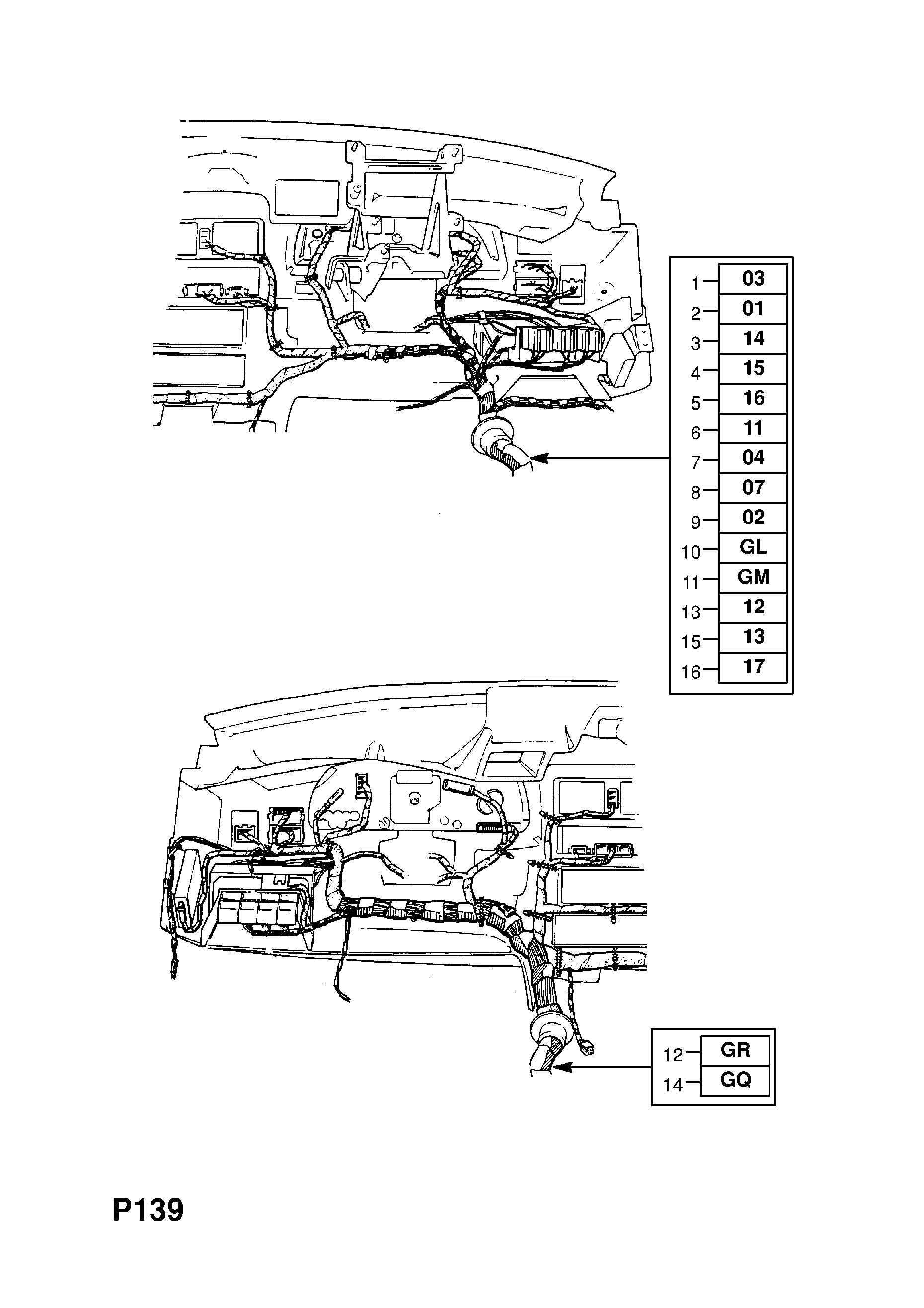 Opel Vectra A 1989 1995 P Electrical 8 Wiring Harness 85 I Would Like To Know How Get Diagram List Of Parts