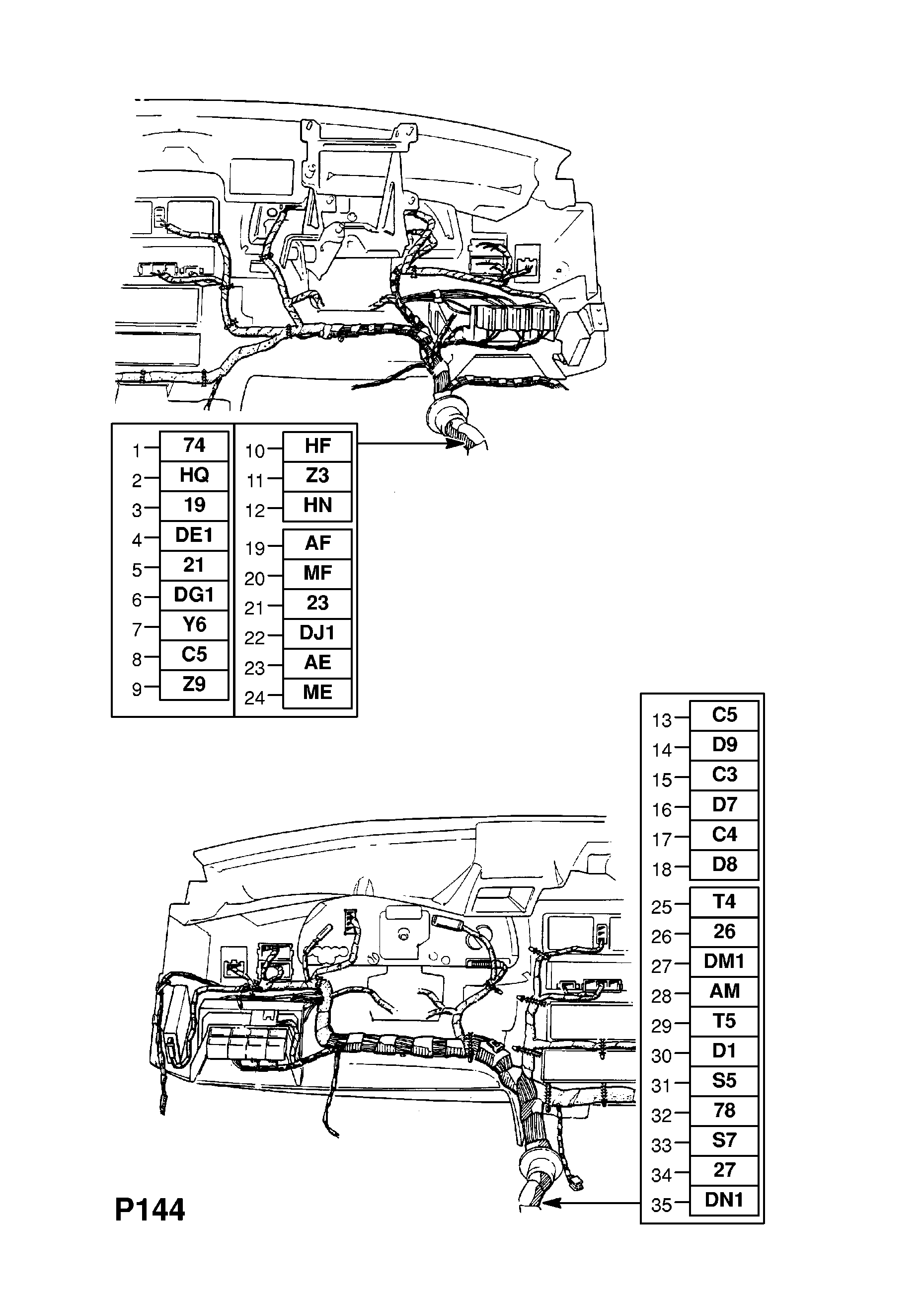Opel Immobilizer Wiring Diagram Diagrams Daihatsu Vectra A 1989 1995 P Electrical 8 Harness 75 Bluetooth