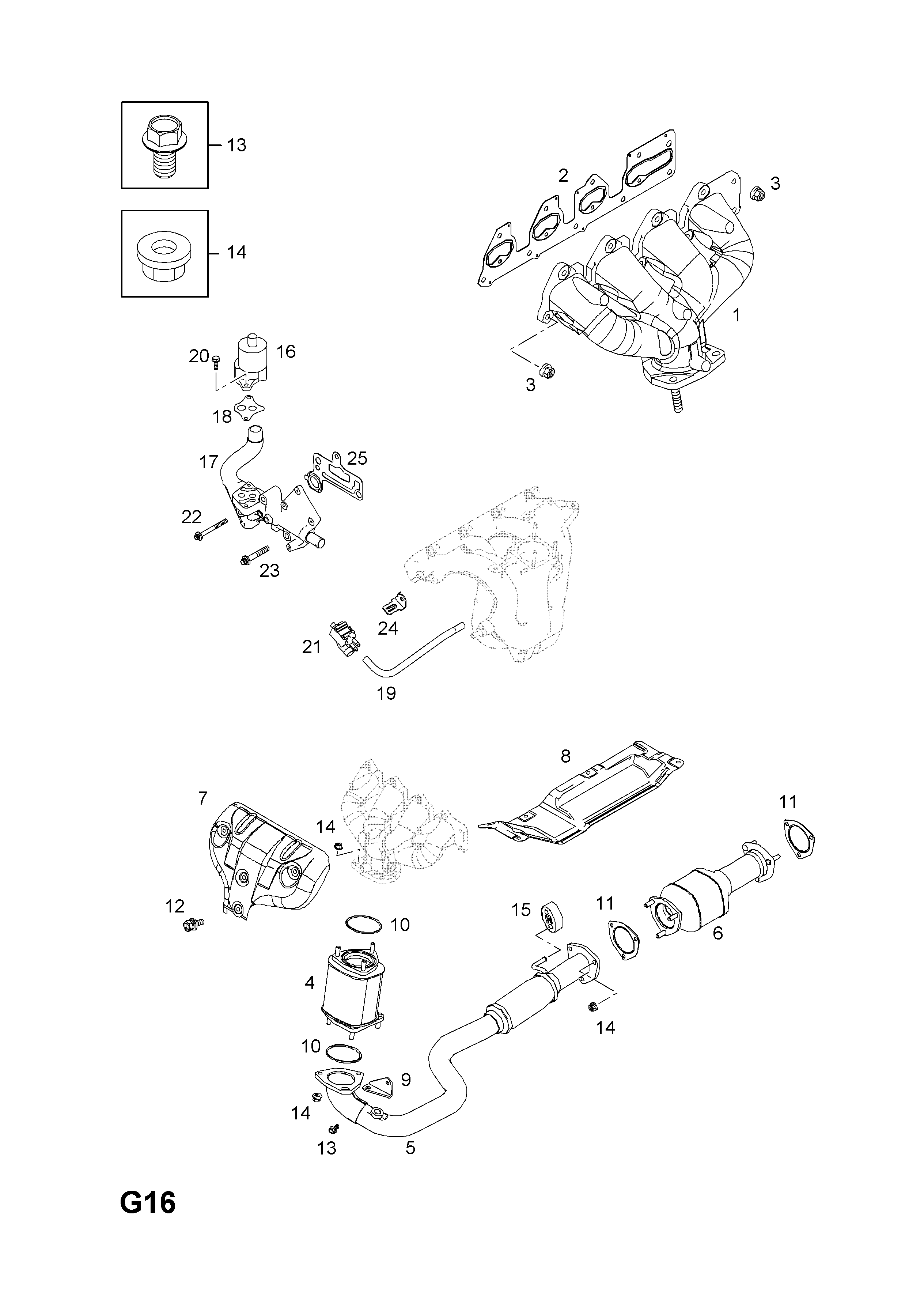Genuine GM 96293025 Catalytic Converter Gasket