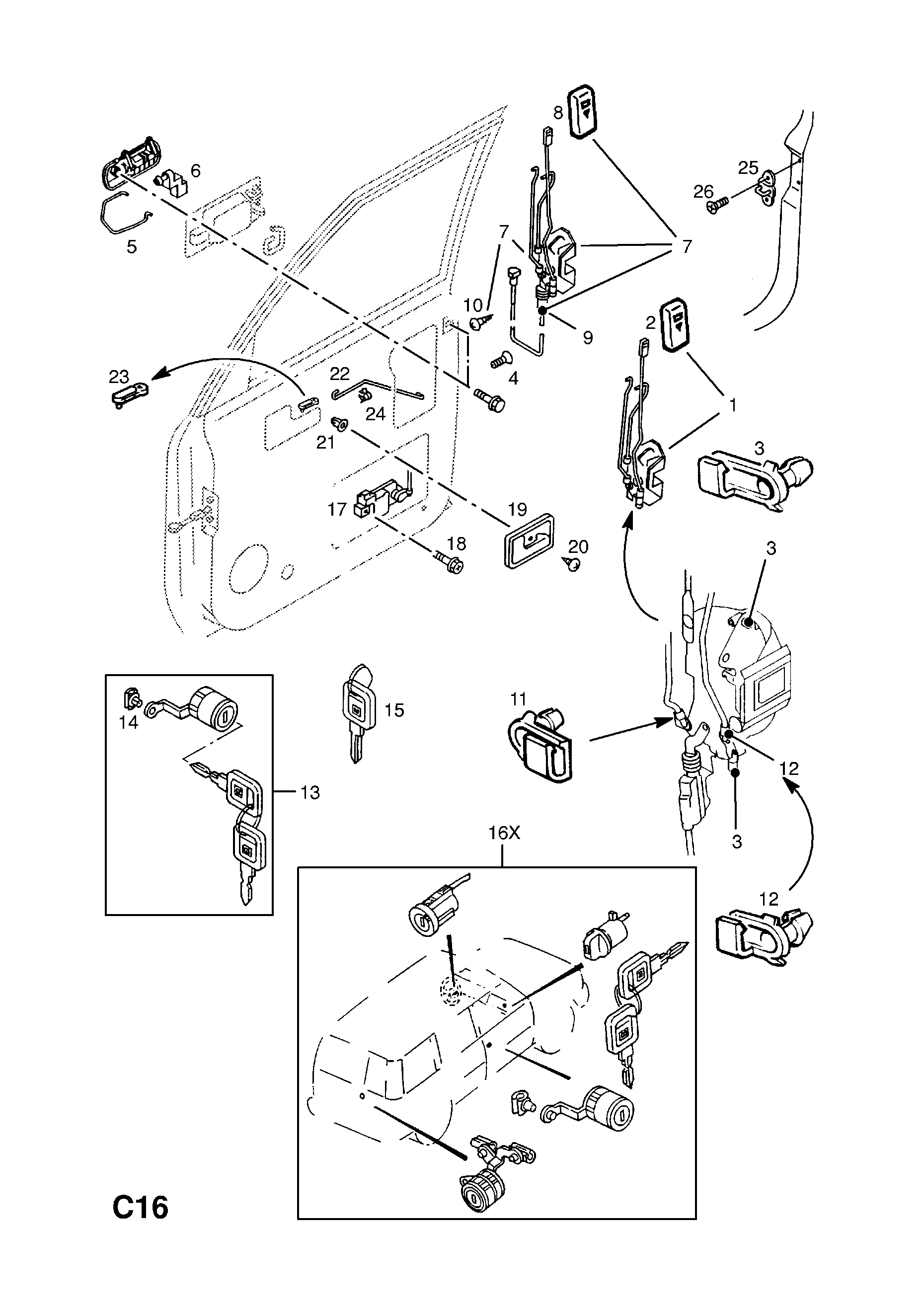 Vauxhall Monterey 1992 1997 C Body Interior Fittings 11 Front Opel Remote Starter Diagram List Of Parts