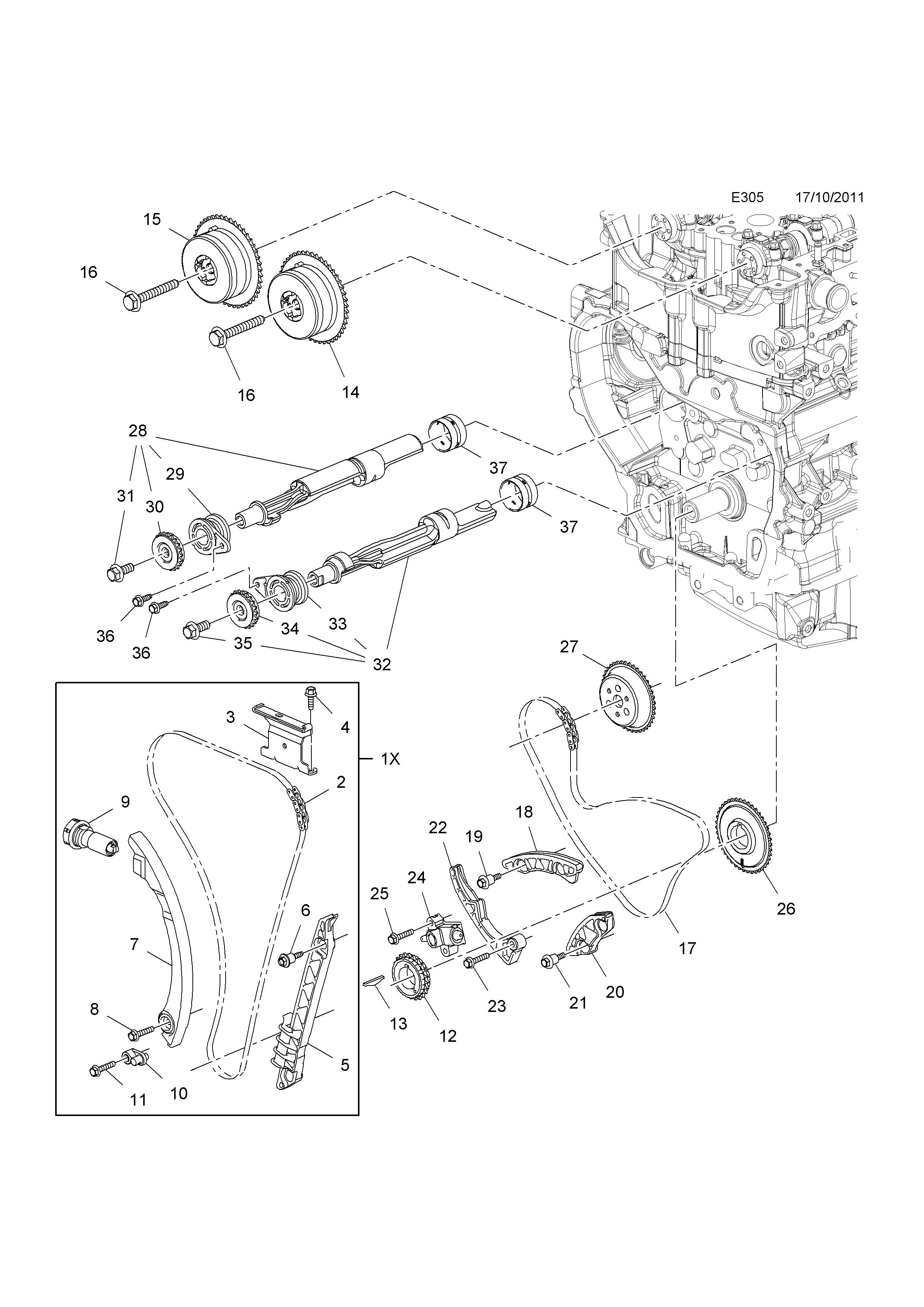 Genuine GM Crankshaft Gear 12642713
