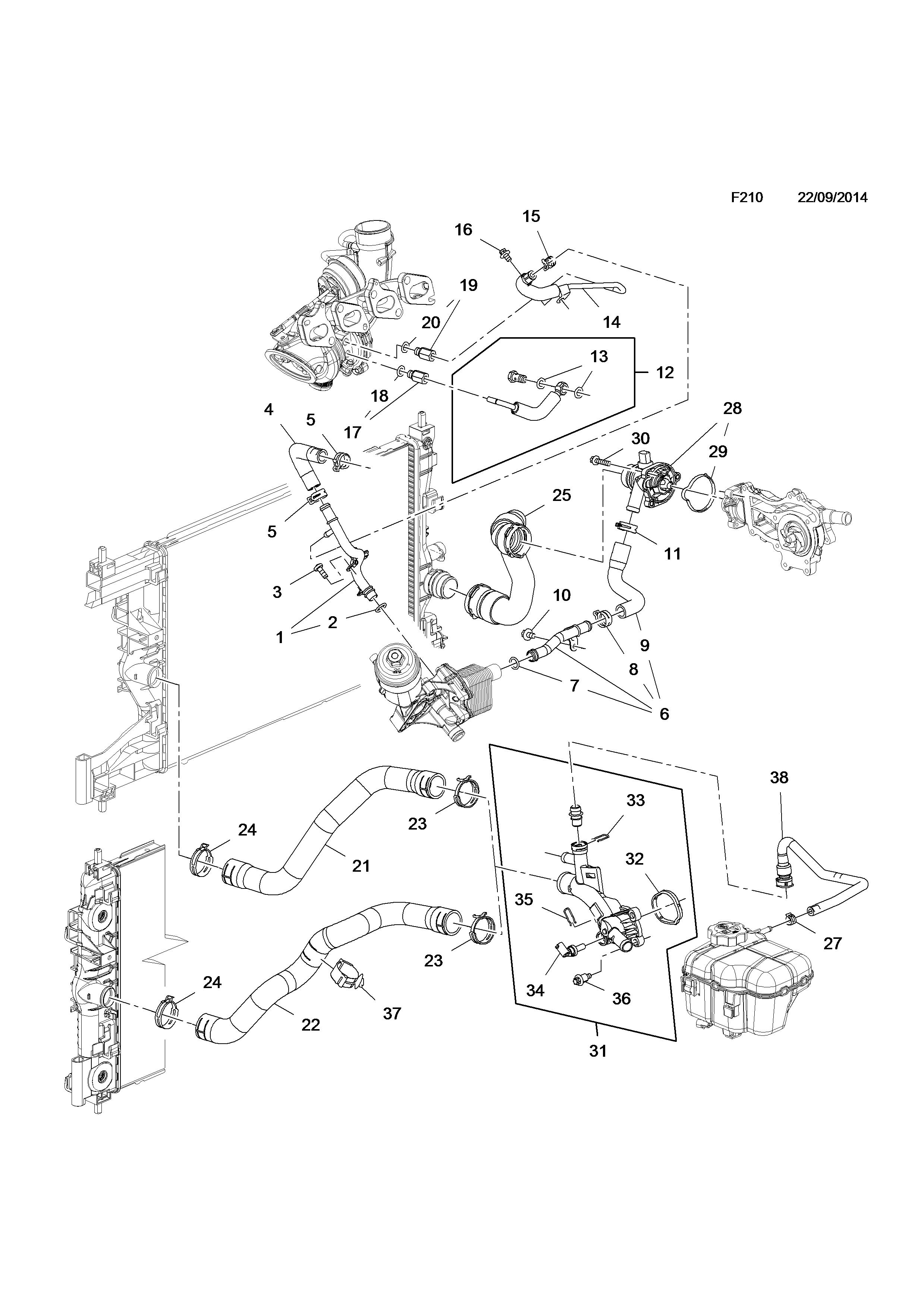 Genuine GM 13291779 Radiator Inlet Hose