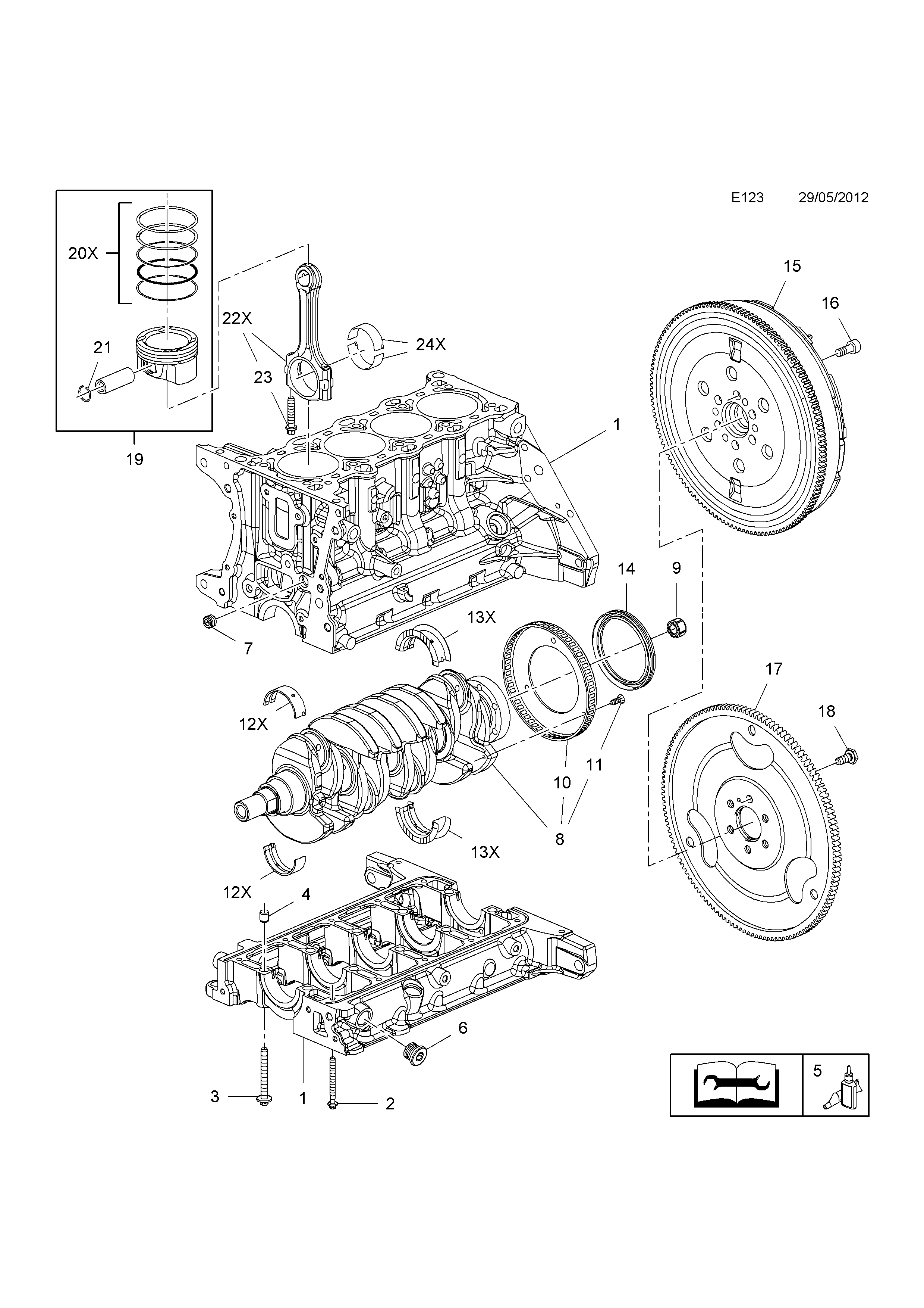 Opel zafira c 2012 e engine and clutch 1 a14nelluj list of parts ccuart Image collections