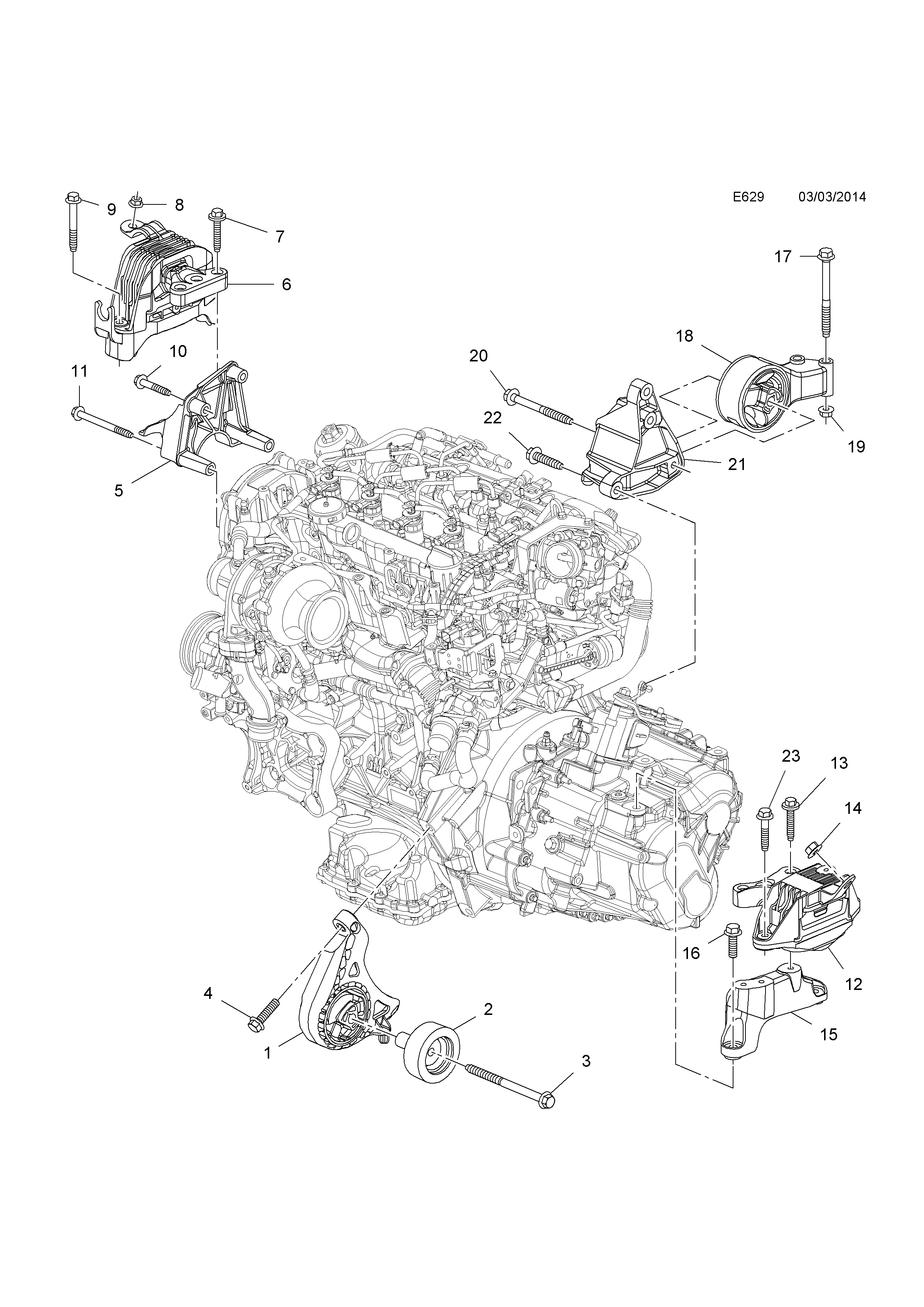 Opel zafira c 2012 e engine and clutch 6 b20dthlfs list of parts ccuart Image collections