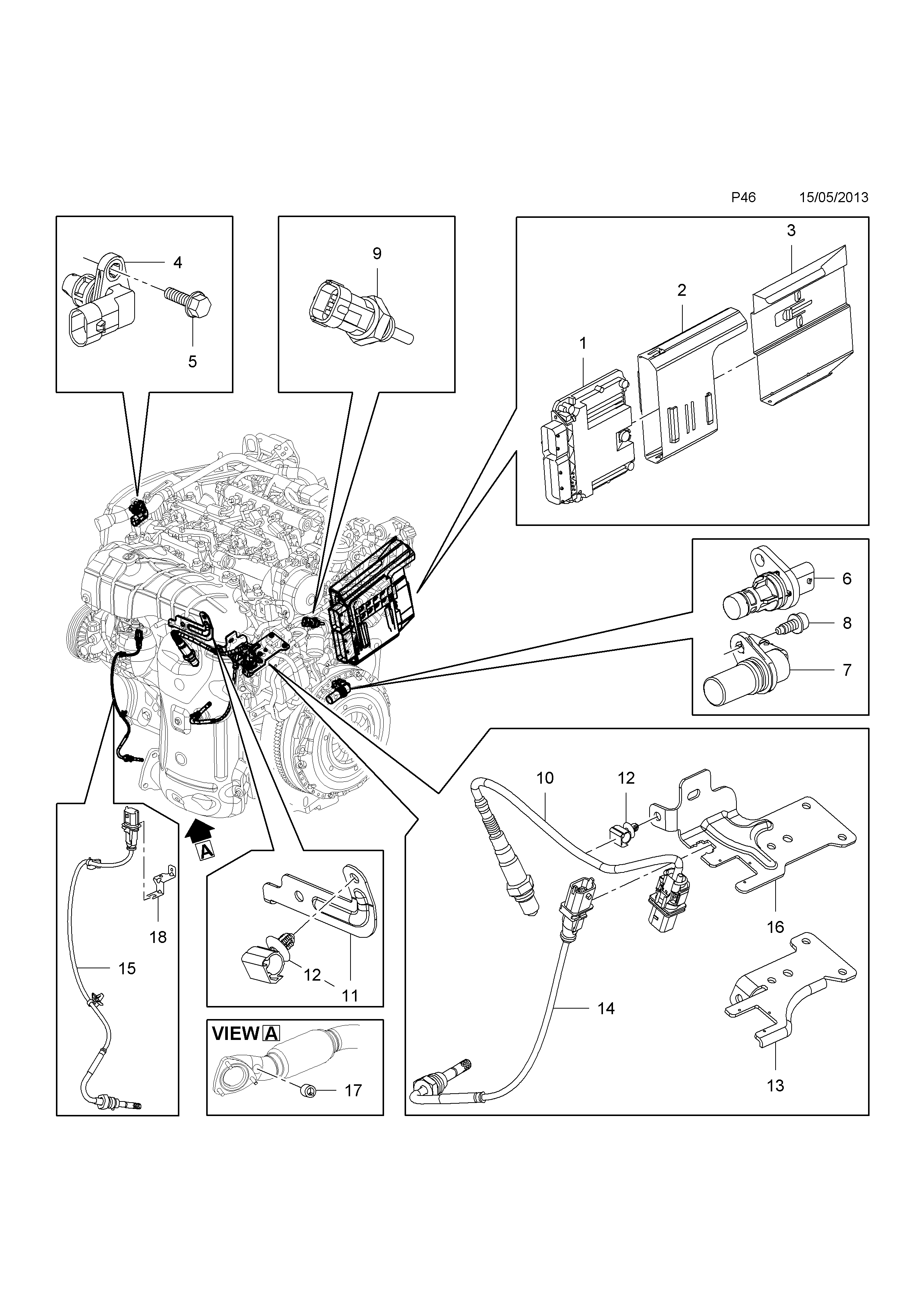vauxhall zafira c 2012 p electrical 1 engine and cooling 58 rh catcar info Car System Diagram Engine Diagram Fuel Pump