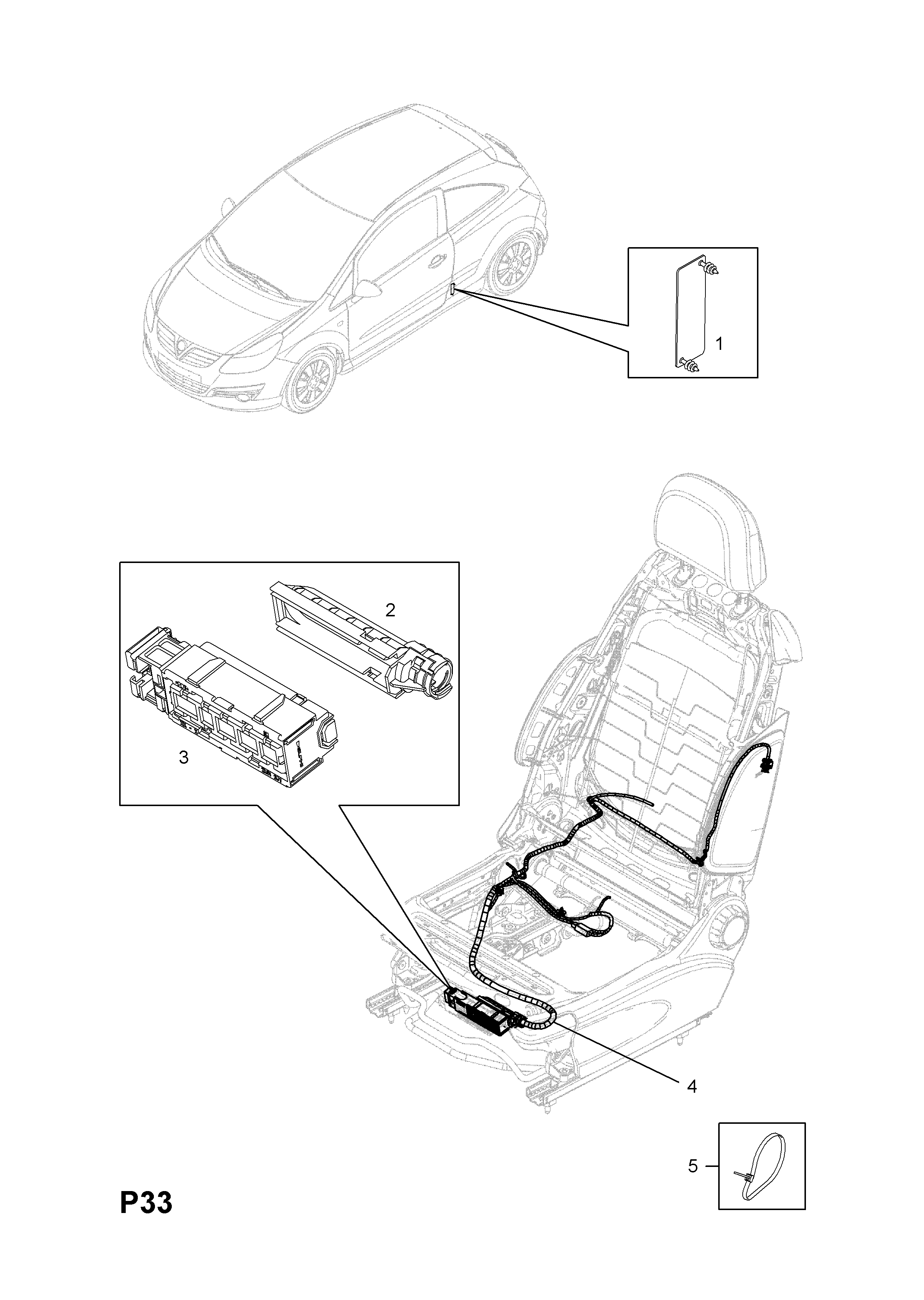 Opel Corsa D 2007 P Electrical 9 Wiring Harness 79front Seat Diagram Gm Part Number Genuine Description Range Front