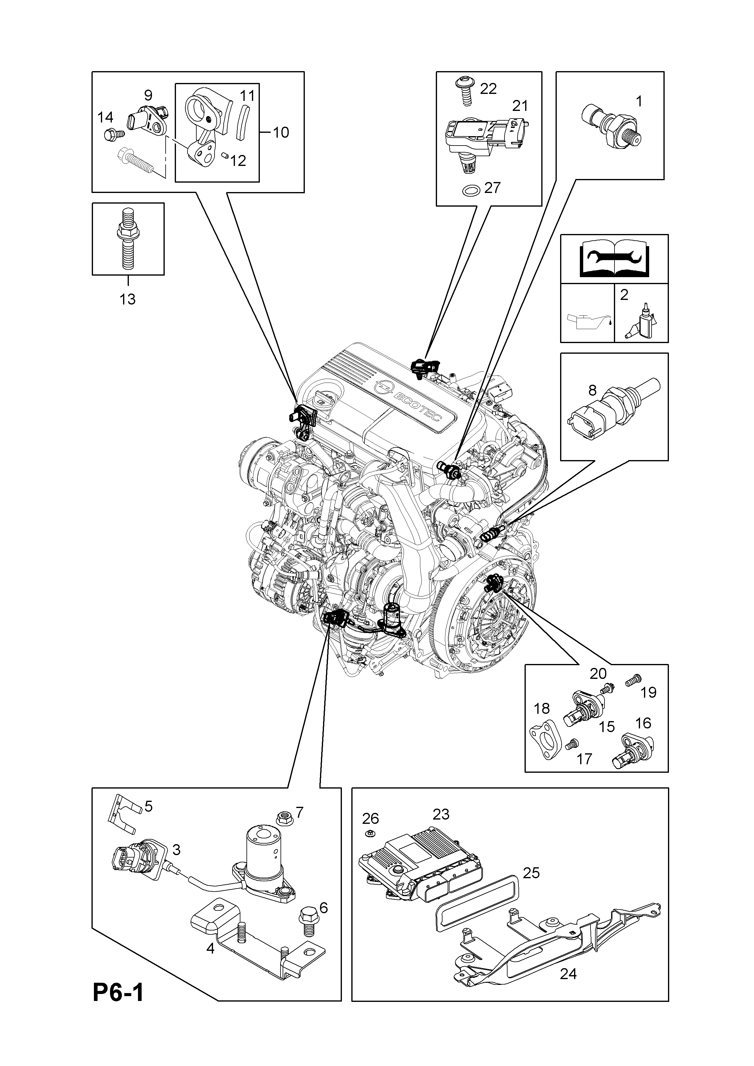 Opel Corsa D 2007 P Electrical 1 Engine And Cooling 93 Gm Ecotec Diagram Part Number Genuine Description Range