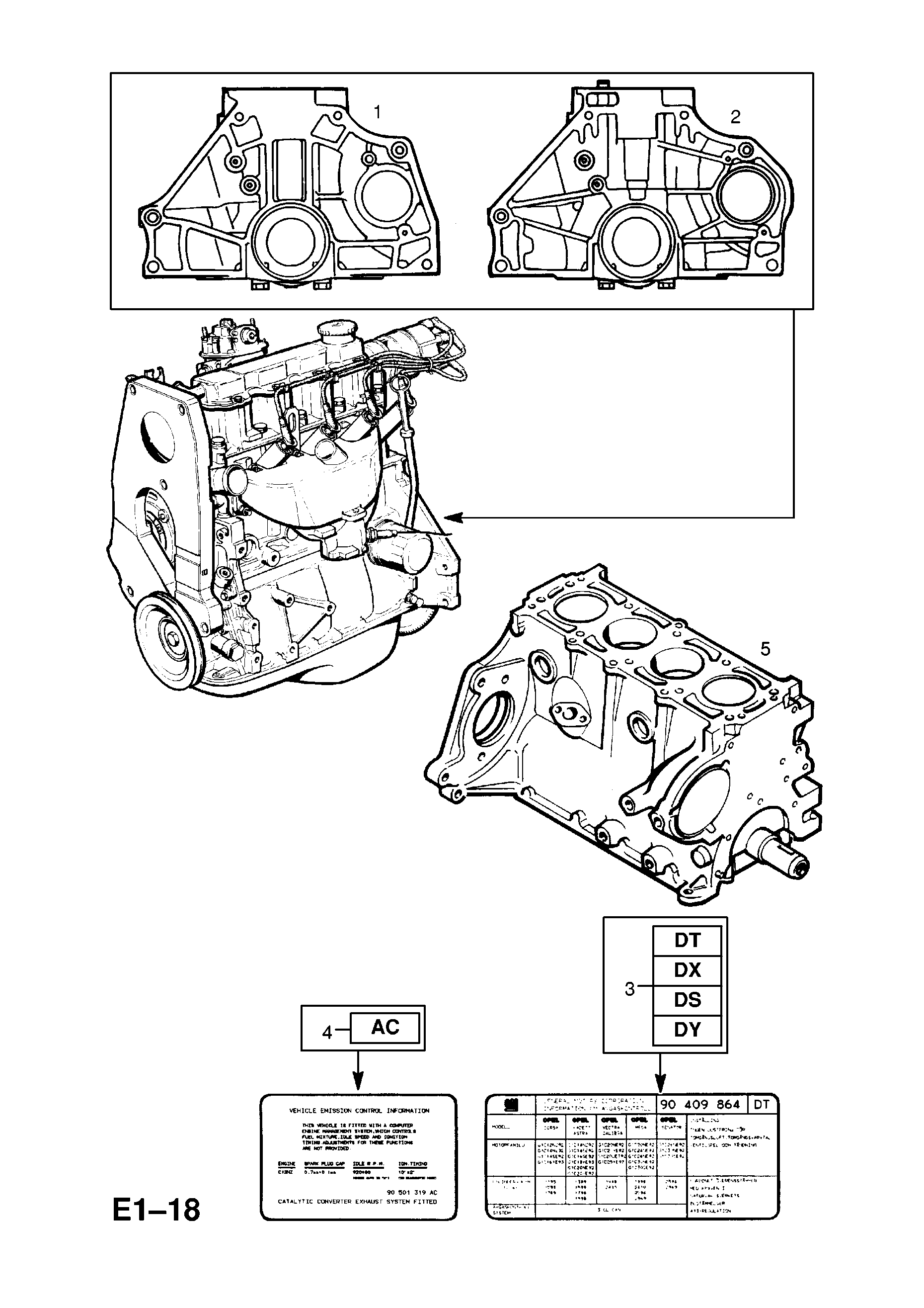 Vauxhall Corsa B 1993 2002 E Engine And Clutch 2 12nzl71 Manual Transmission Diagram Auto Repair Gm Part Number Genuine Description Range Assembly12nzl71 With