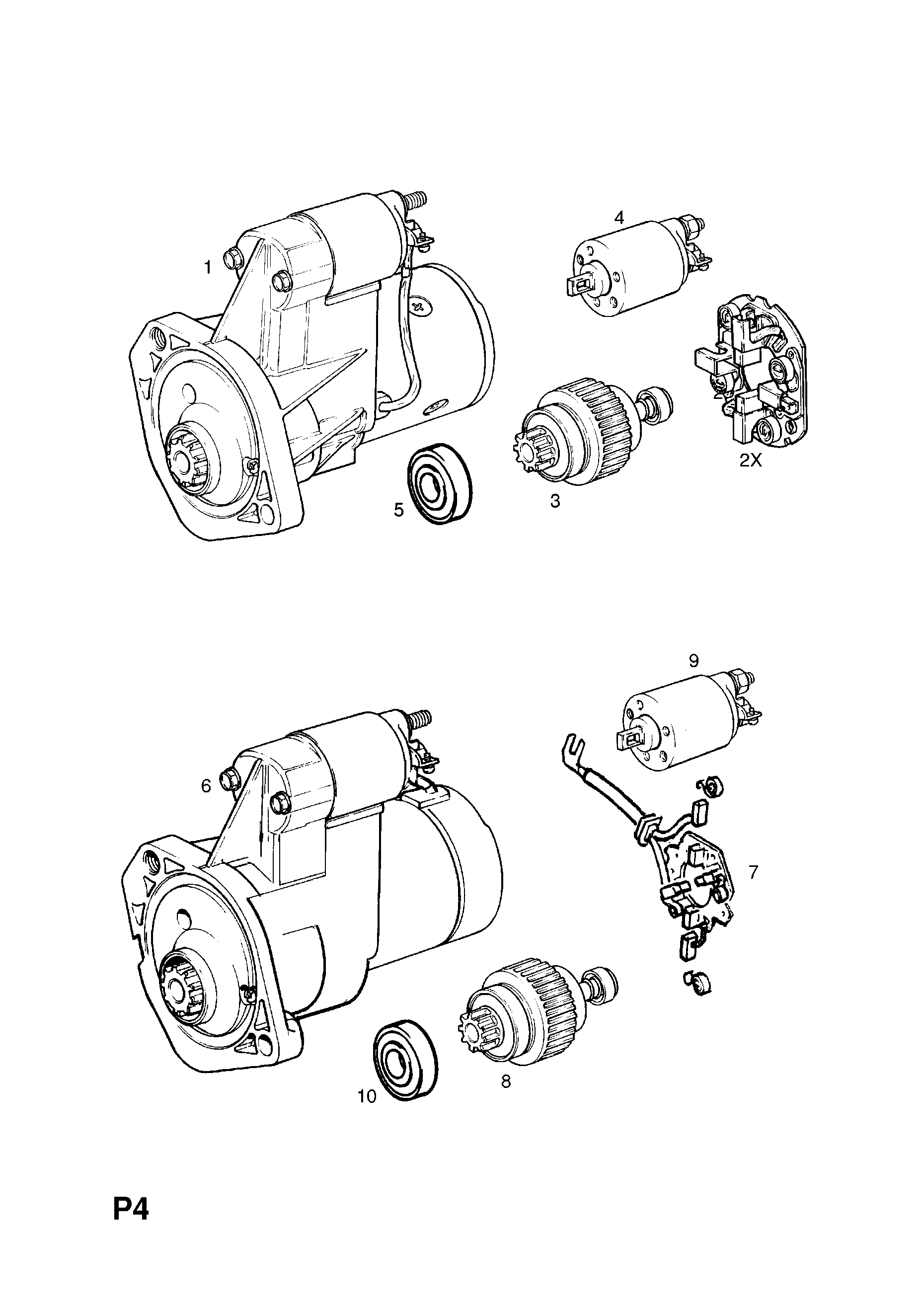 Vauxhall Corsa B 1993 2002 P Electrical 1 Engine And Cooling Starter Motor Wiring Diagram List Of Parts