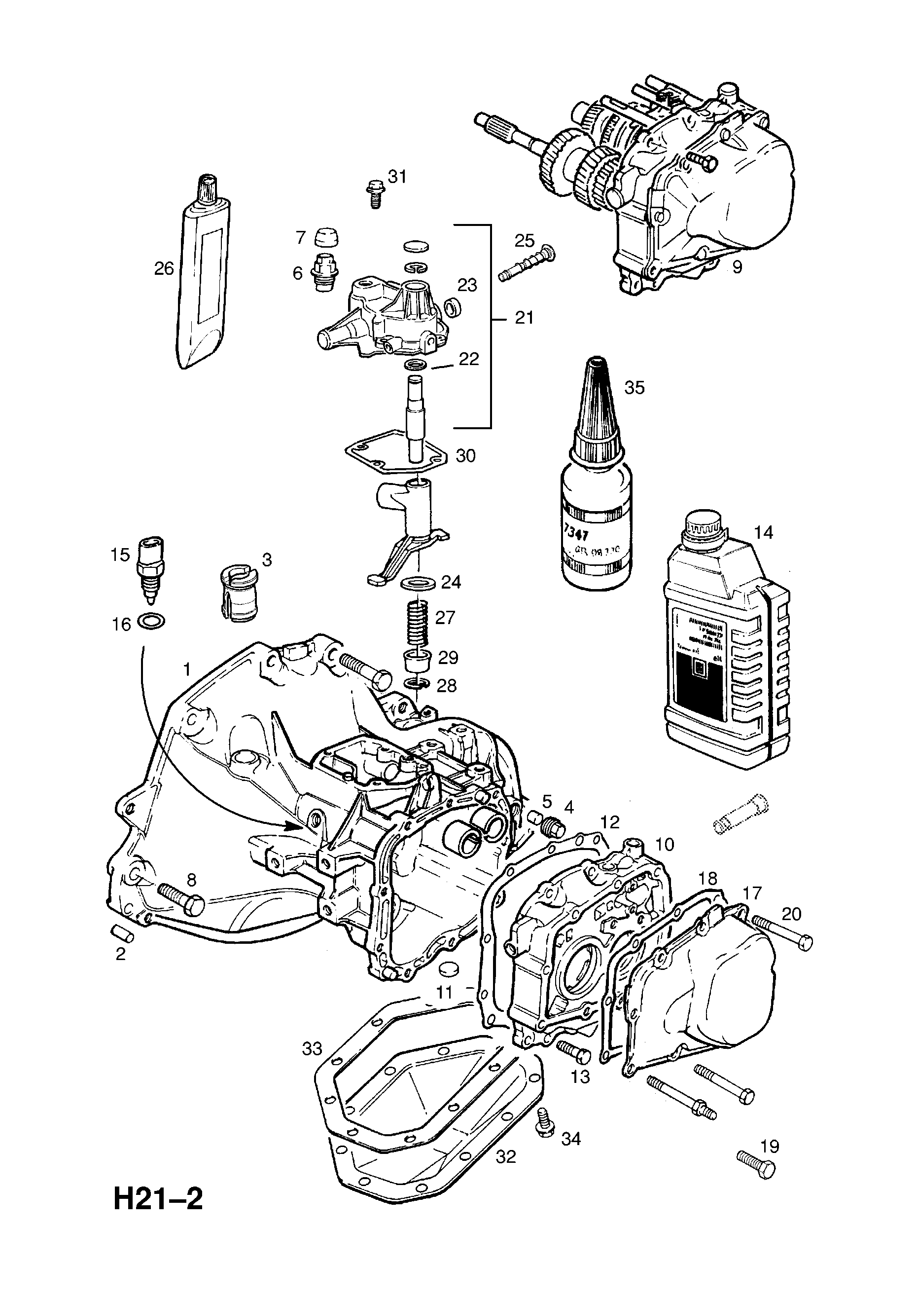 Vauxhall Astra F 1992 1998 H Transmission 4 F17 Manual Diagrams List Of Parts