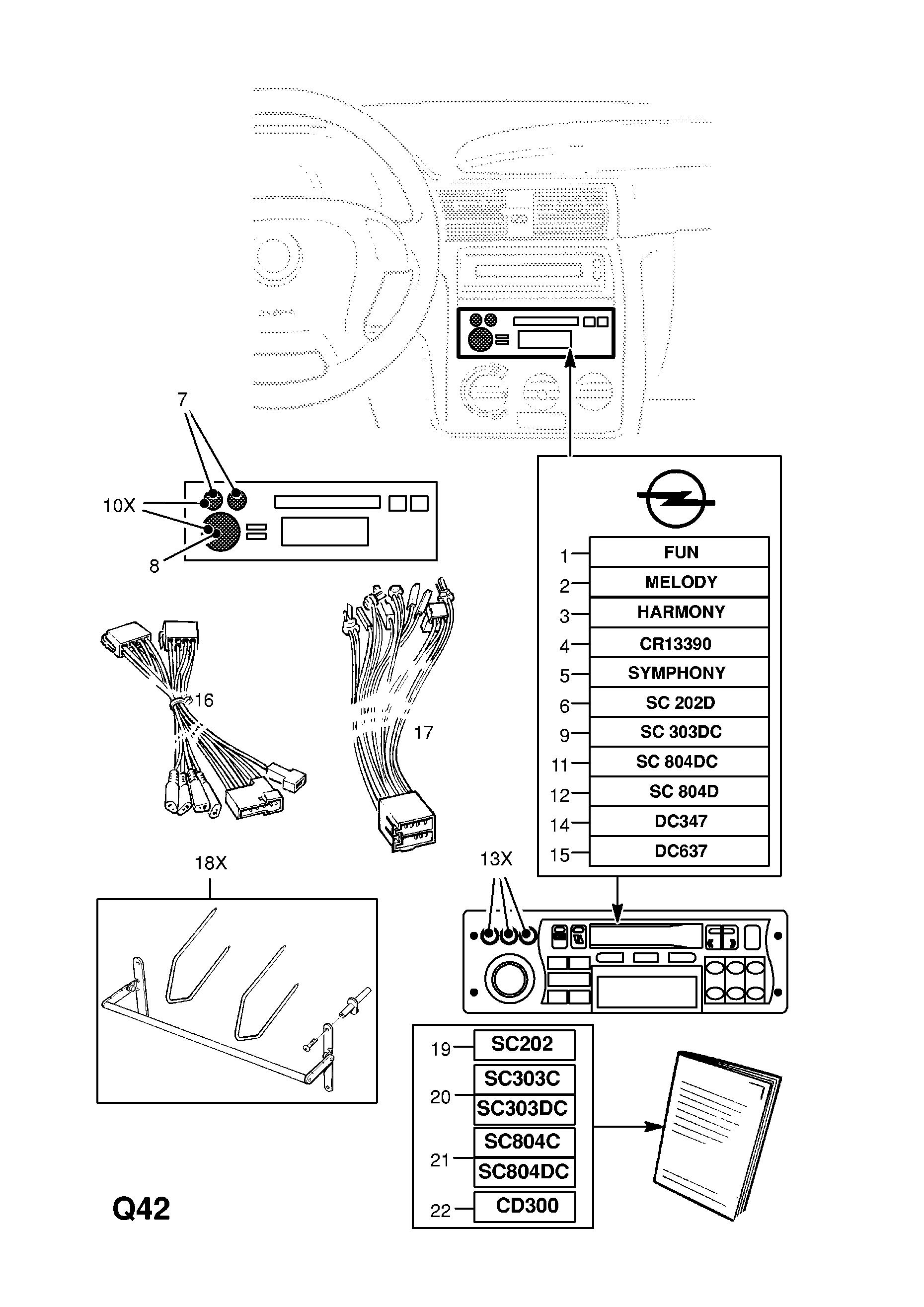 DTS LINE PASSARUOTA tipo C 50mm 4x100 OPEL ASTRA ASTRA-F-CC