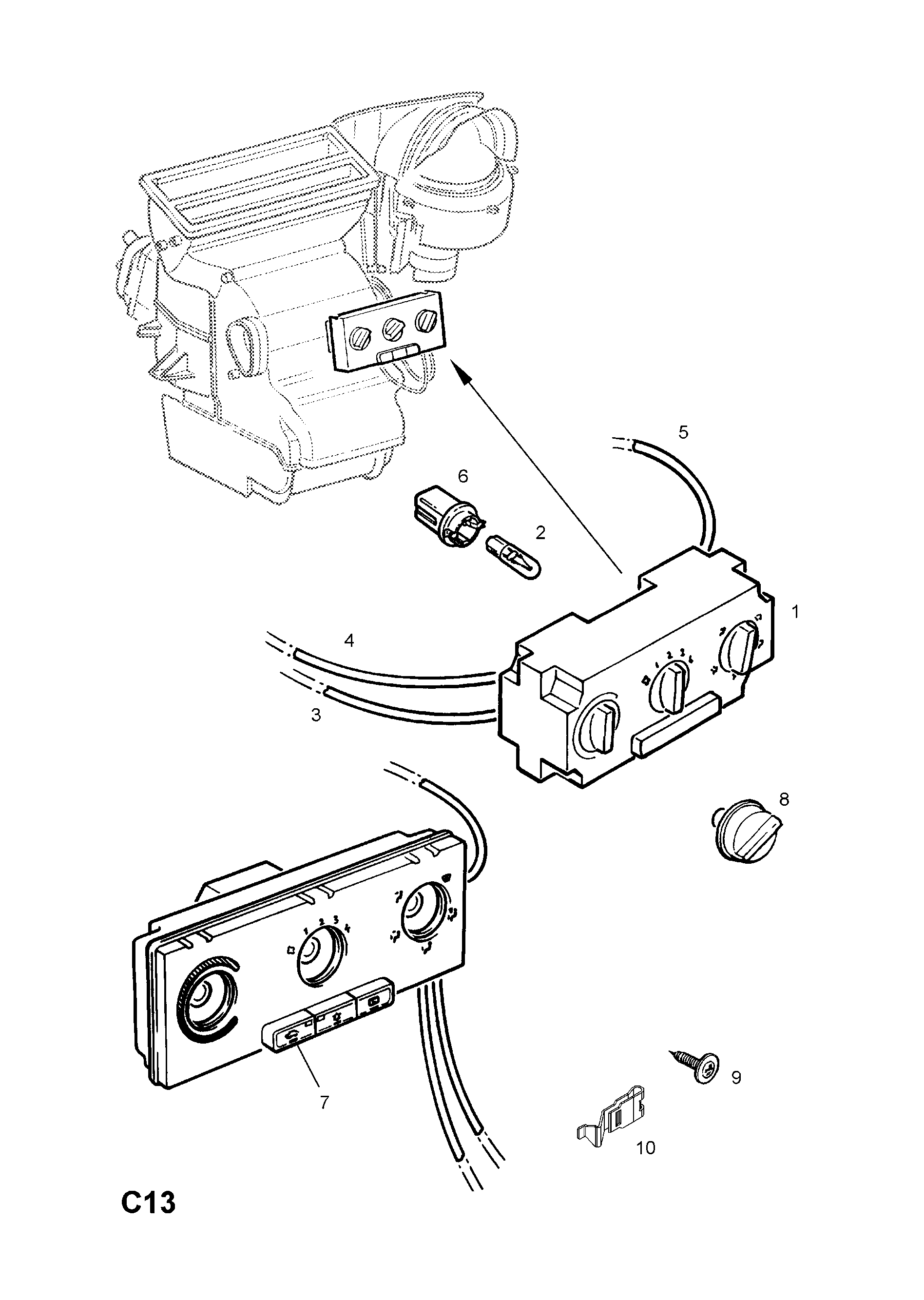 Vauxhall Zafira A 1998 2010 C Body Interior Fittings 6 Heater Fog Light Wiring Diagram List Of Parts