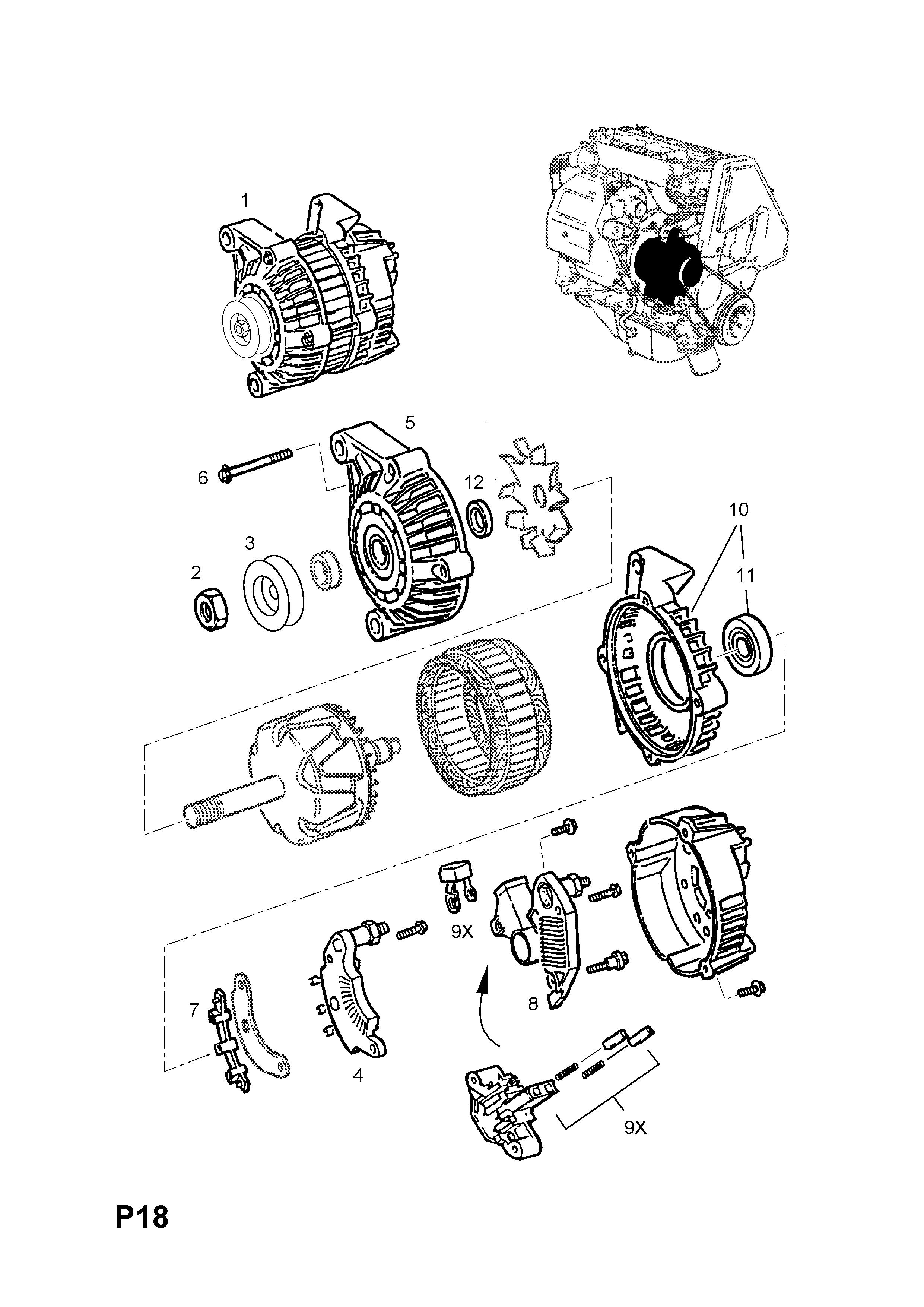 astra g alternator wiring diagram