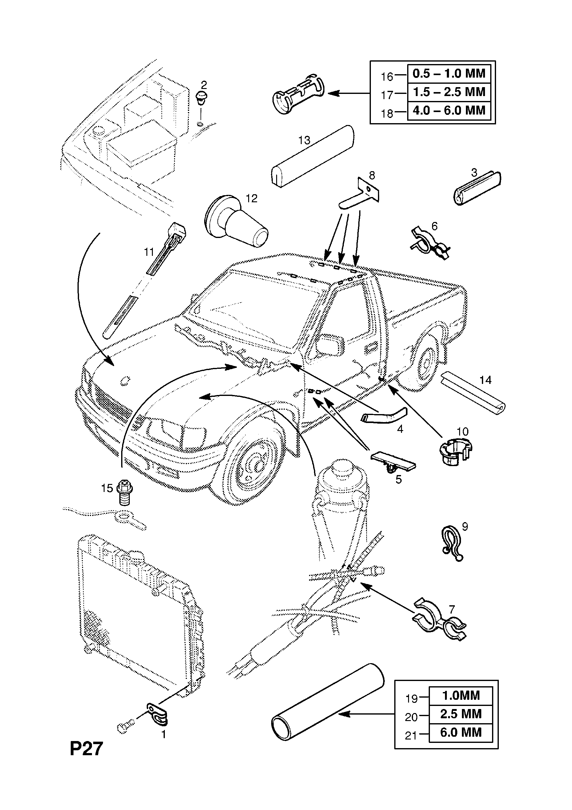 vauxhall brava 1997 2002 p electrical 8 wiring harness 13 rh catcar info Simple Wiring Diagrams Light Switch Wiring Diagram