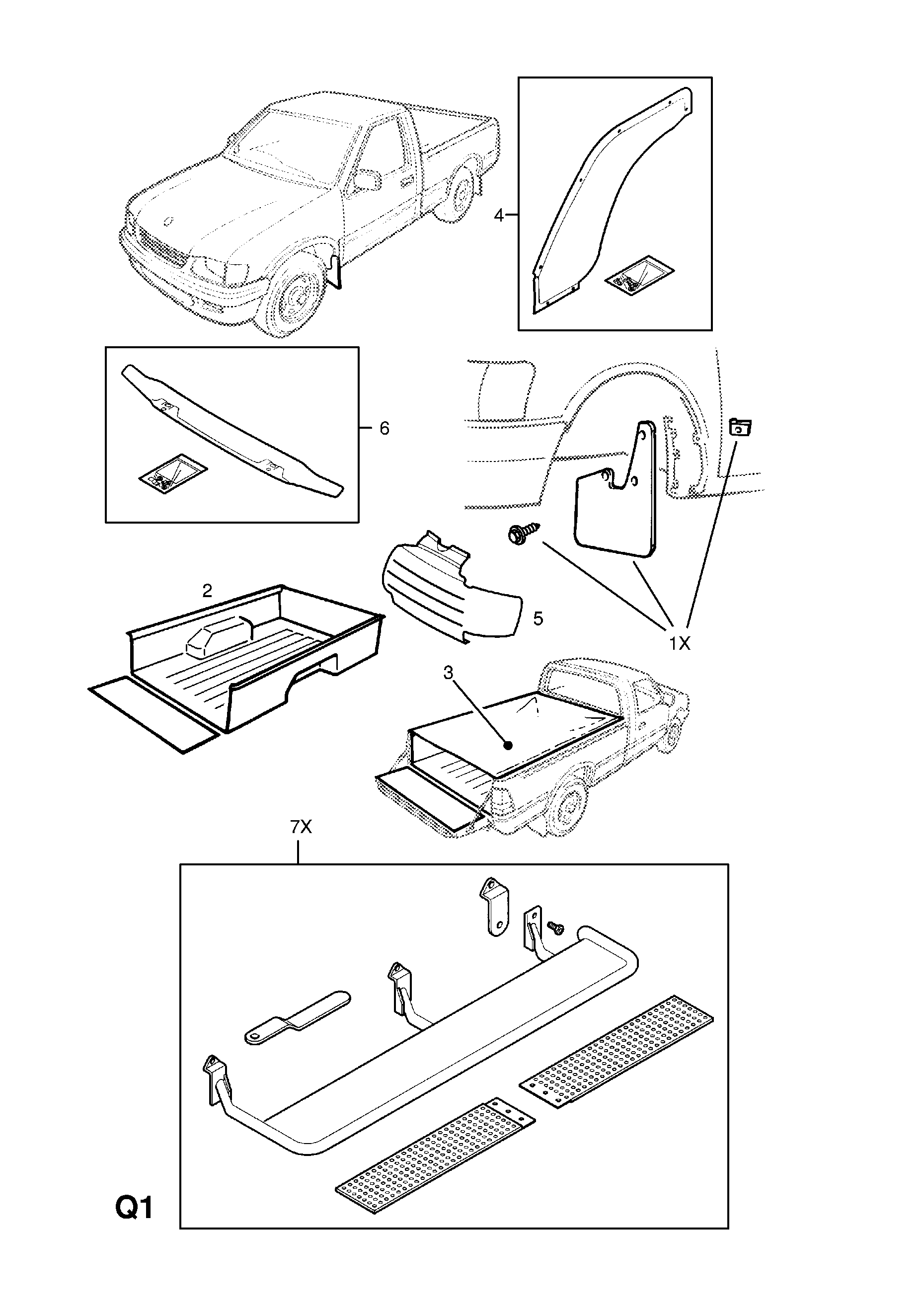 Gm 5 3 Accessories Diagram Electrical Wiring Diagrams 1 Liter Engine Opel Campo 1997 2002 Q Body Exterior Fittings 31