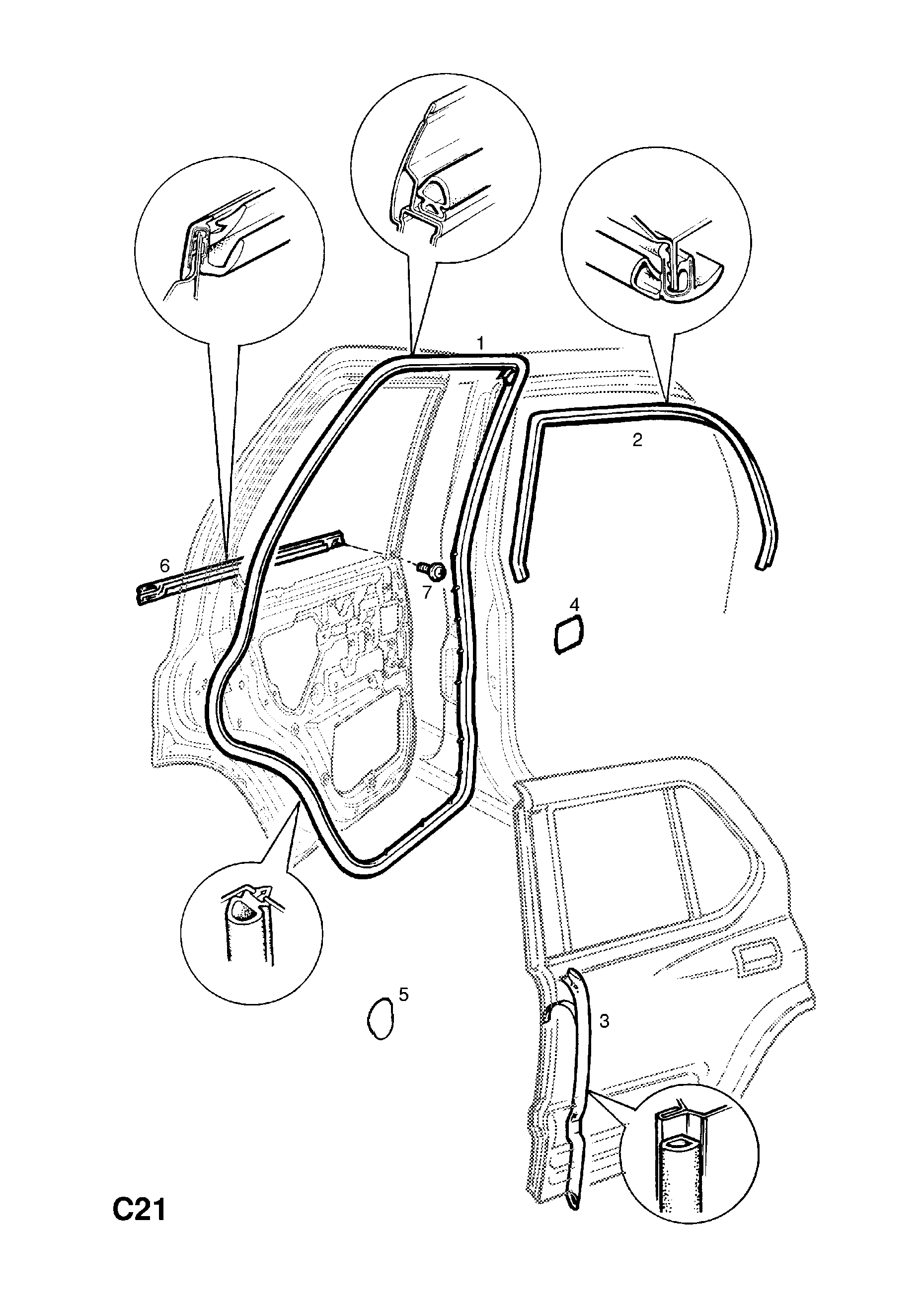 Opel Frontera B 1999 2004 C Body Interior Fittings 8 Wiring Diagram List Of Parts