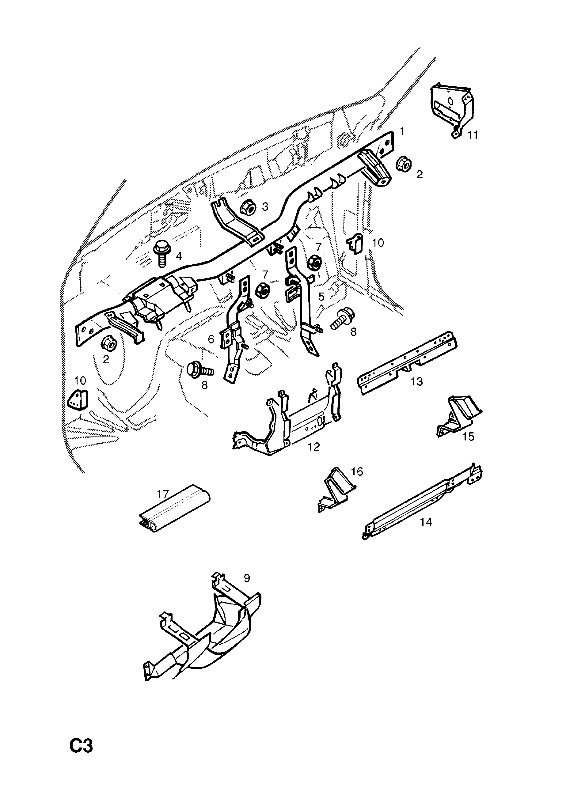 Opel Frontera B 1999 2004 C Body Interior Fittings 2 Wiring Diagram List Of Parts