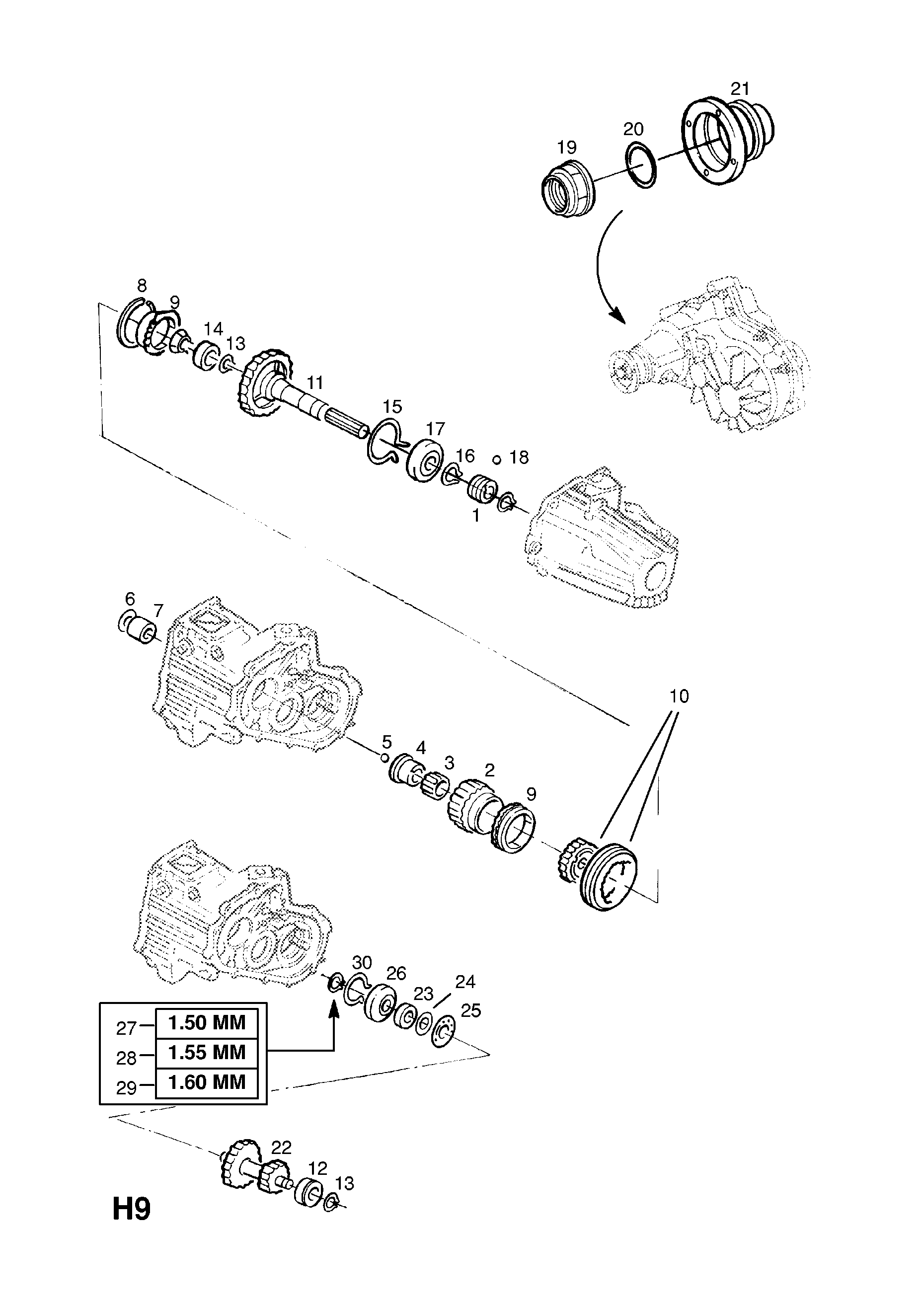 Opel Frontera B 1999 2004 H Transmission 1 Manual Wiring Diagram List Of Parts